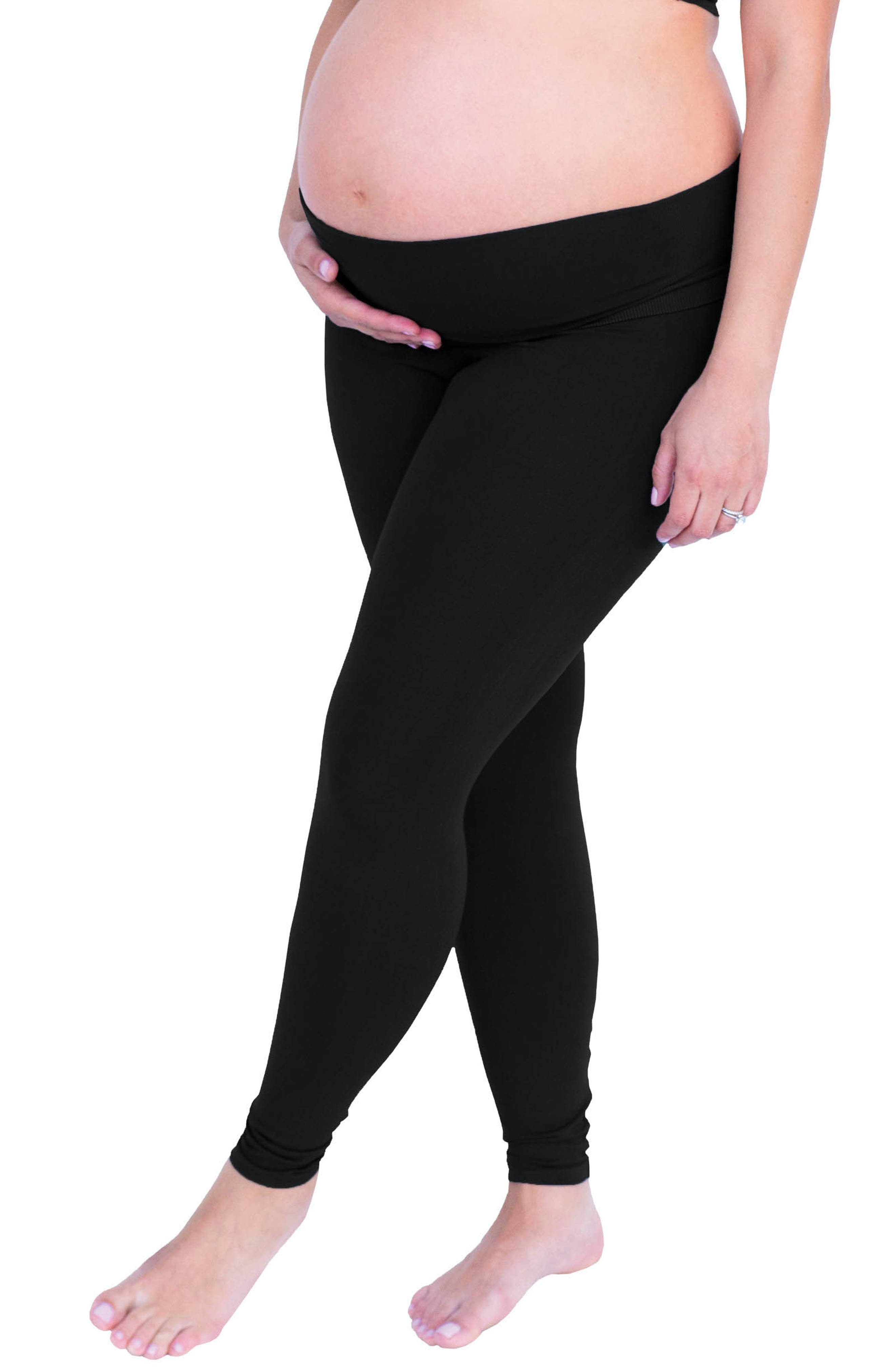 Belly Bandit Bump Support<sup>™</sup> Leggings,                             Alternate thumbnail 3, color,                             001