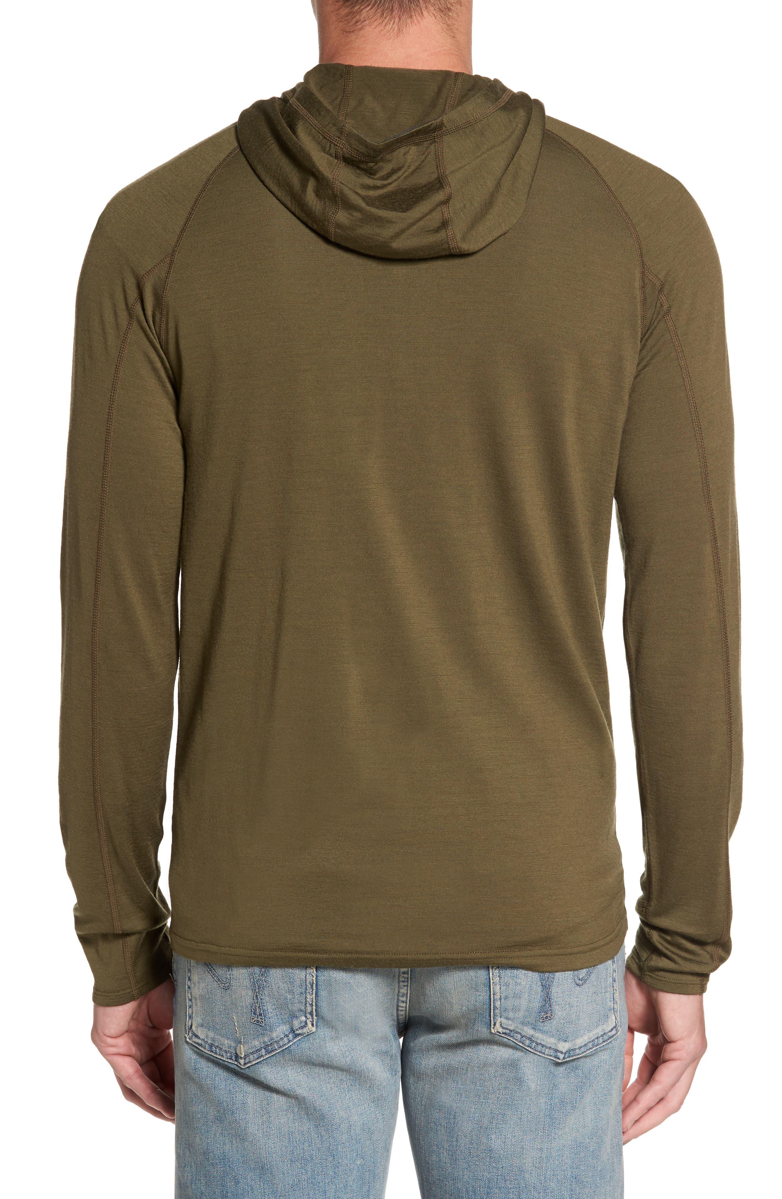 'Indie' Merino Wool Quarter Zip Hoodie,                             Alternate thumbnail 2, color,                             250
