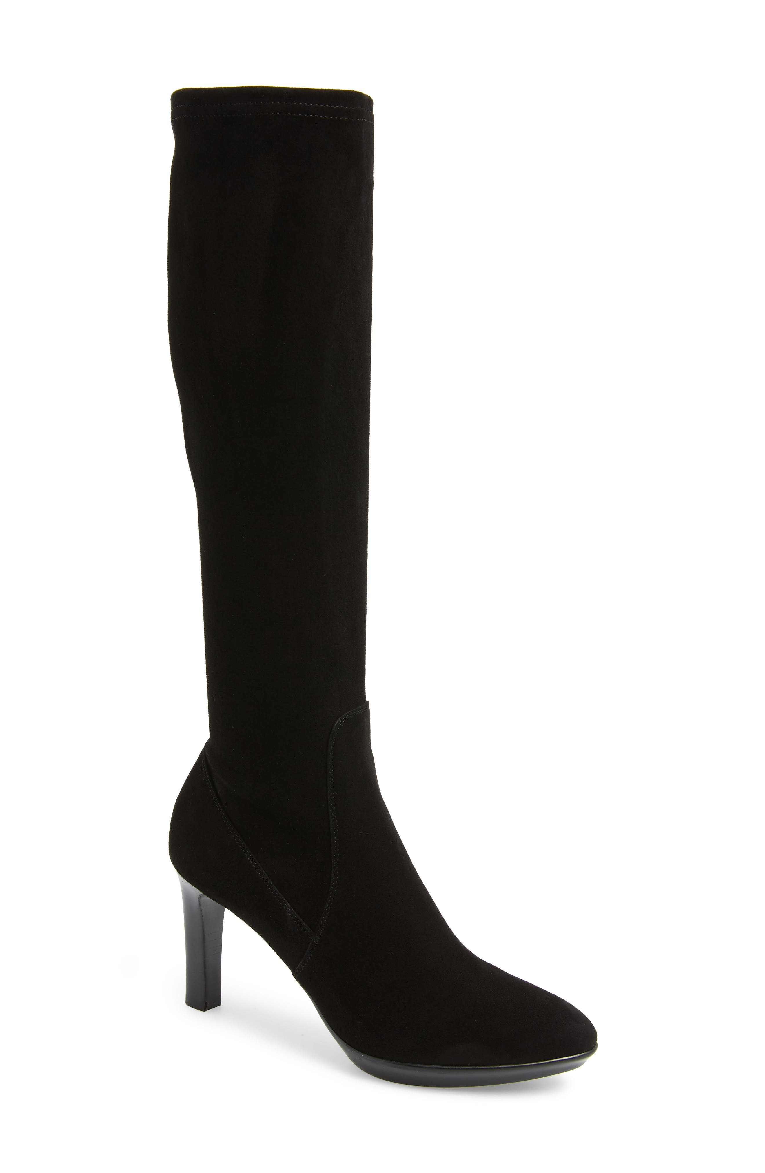 AQUATALIA Women'S Rhumba Tall Suede High-Heel Boots in Black