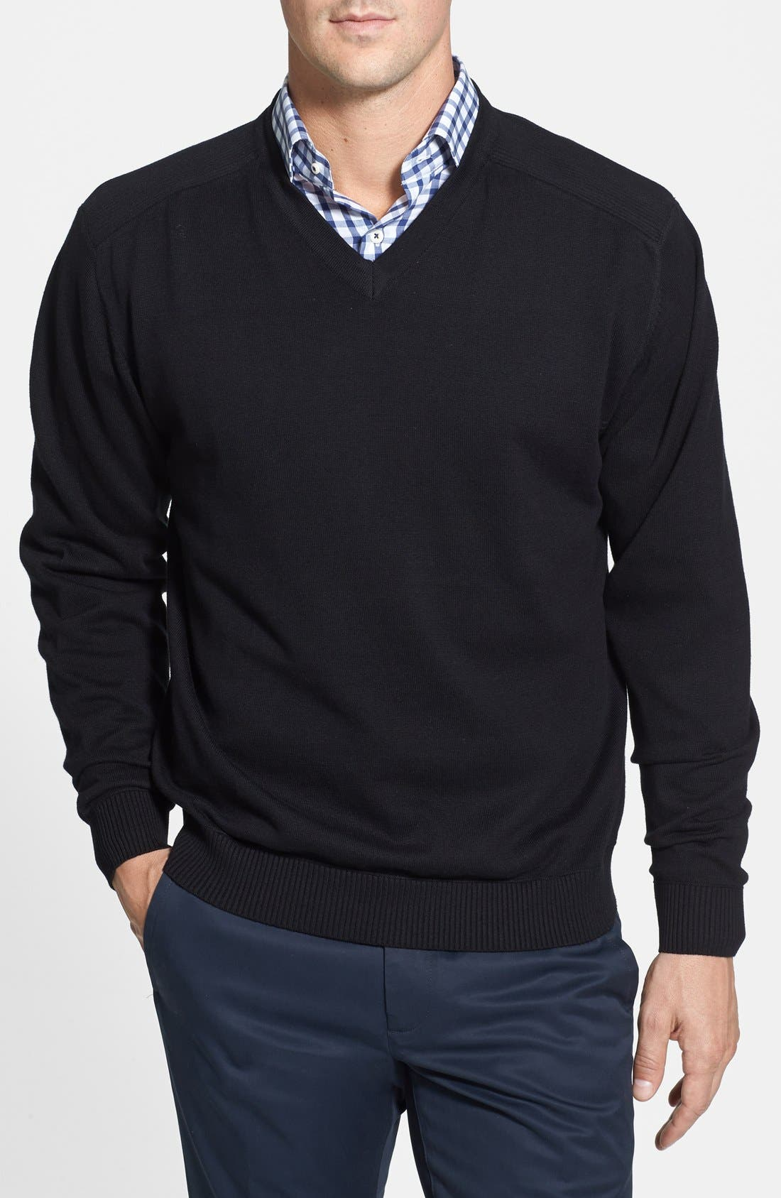 Broadview V-Neck Sweater,                             Main thumbnail 1, color,                             001