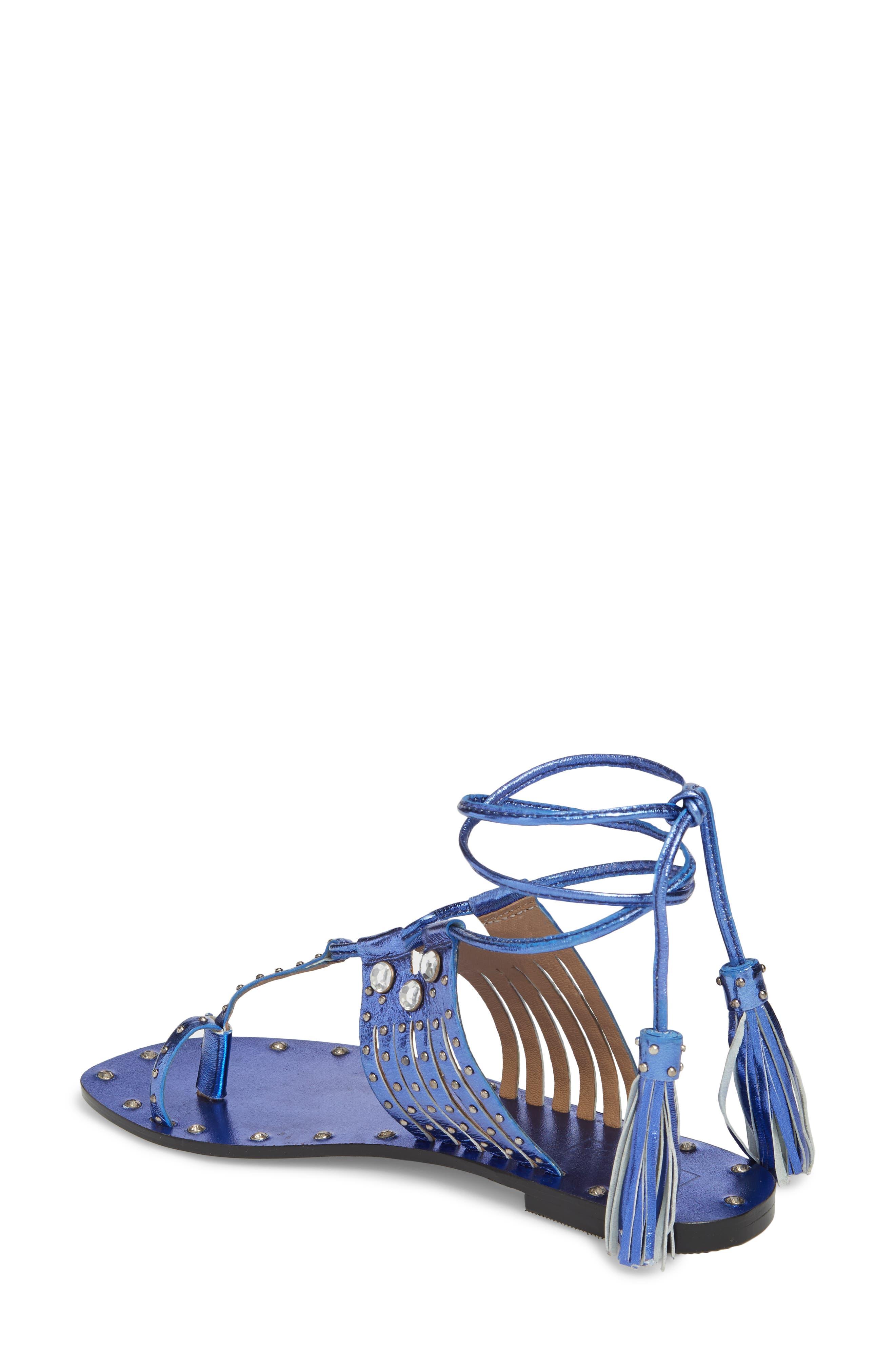 Fay Embellished Wraparound Sandal,                             Alternate thumbnail 5, color,