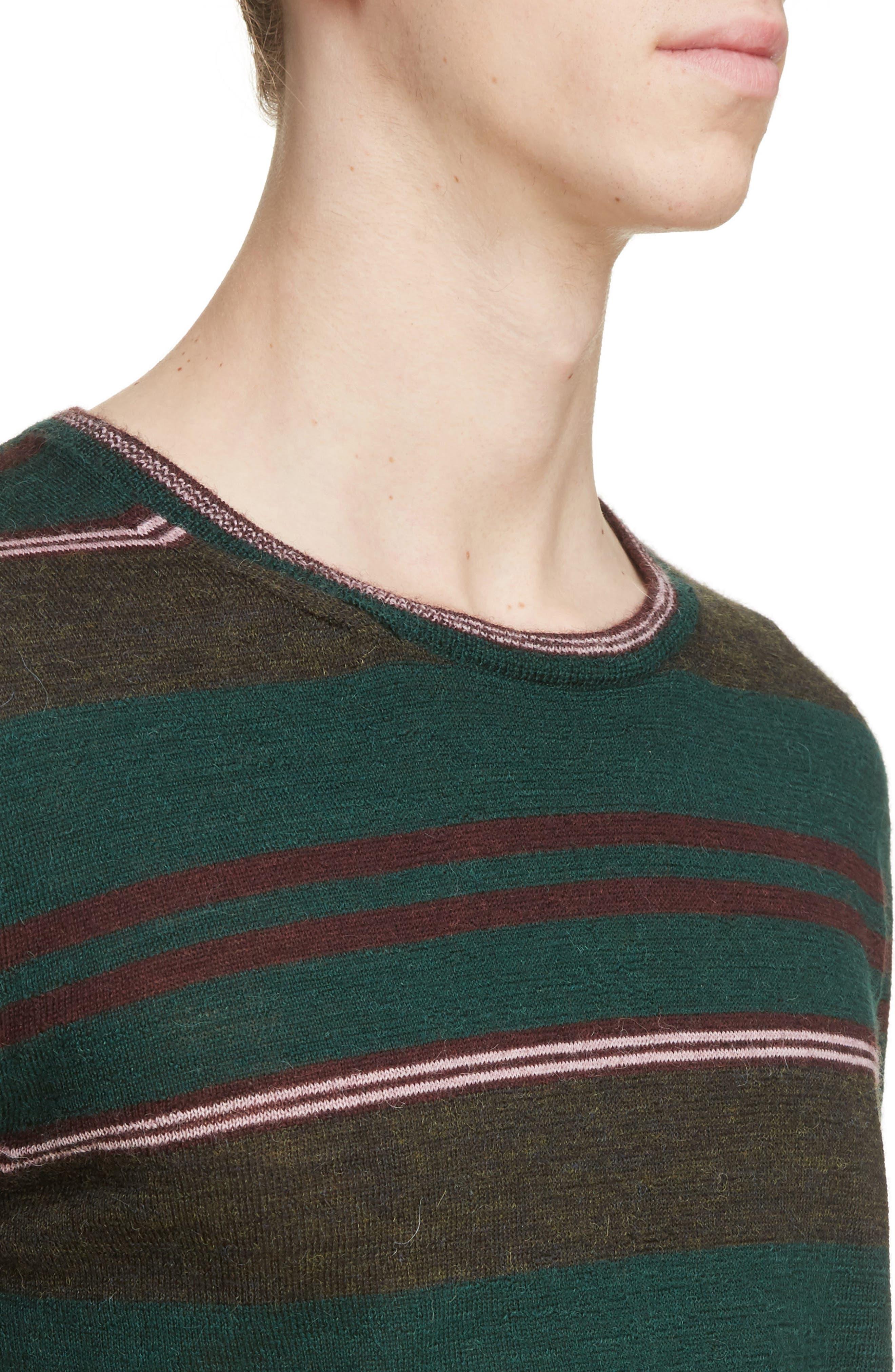 Multistripe Wool Sweater,                             Alternate thumbnail 4, color,                             300