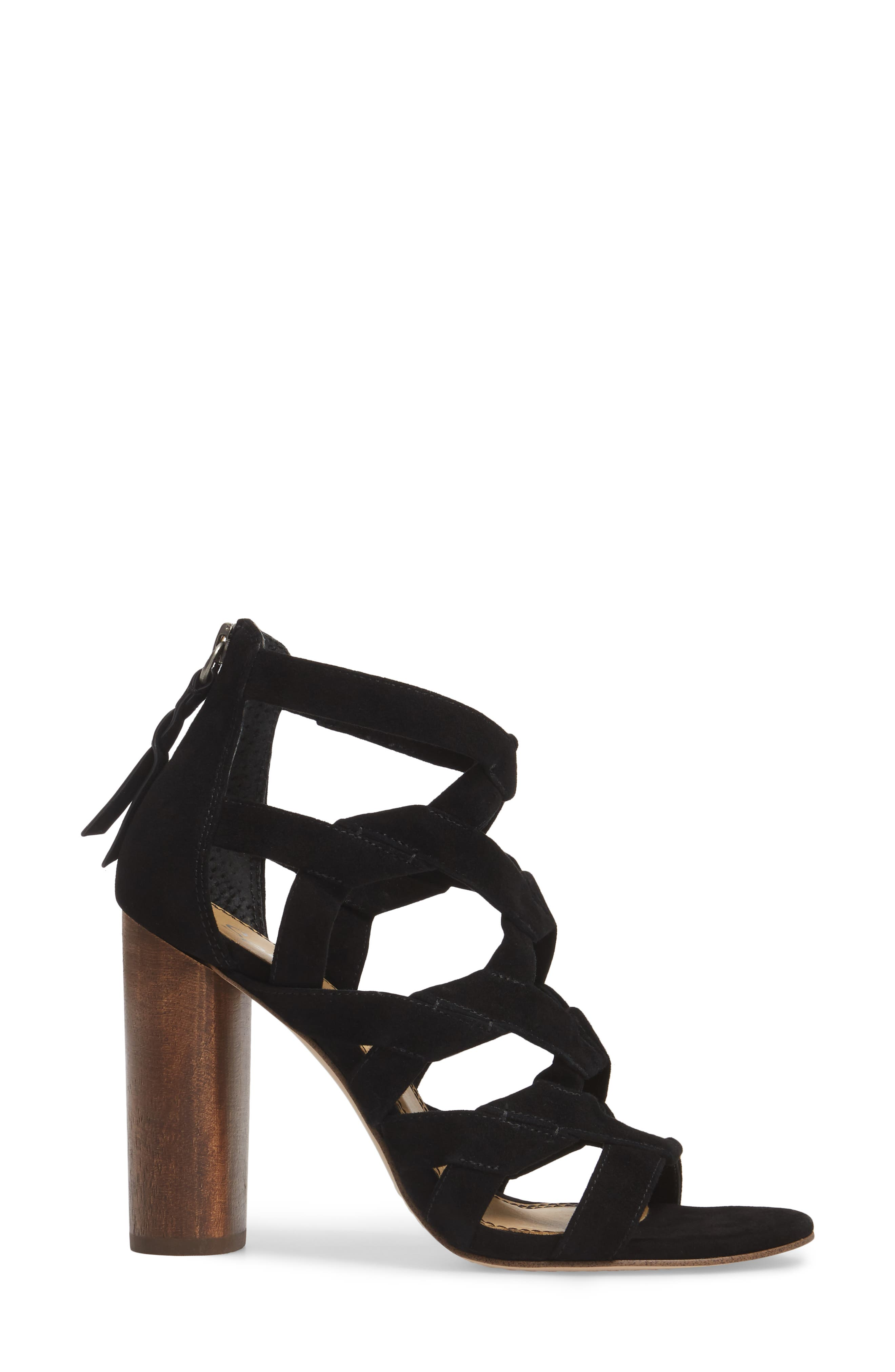 Bartlett Angled Cage Sandal,                             Alternate thumbnail 3, color,                             013