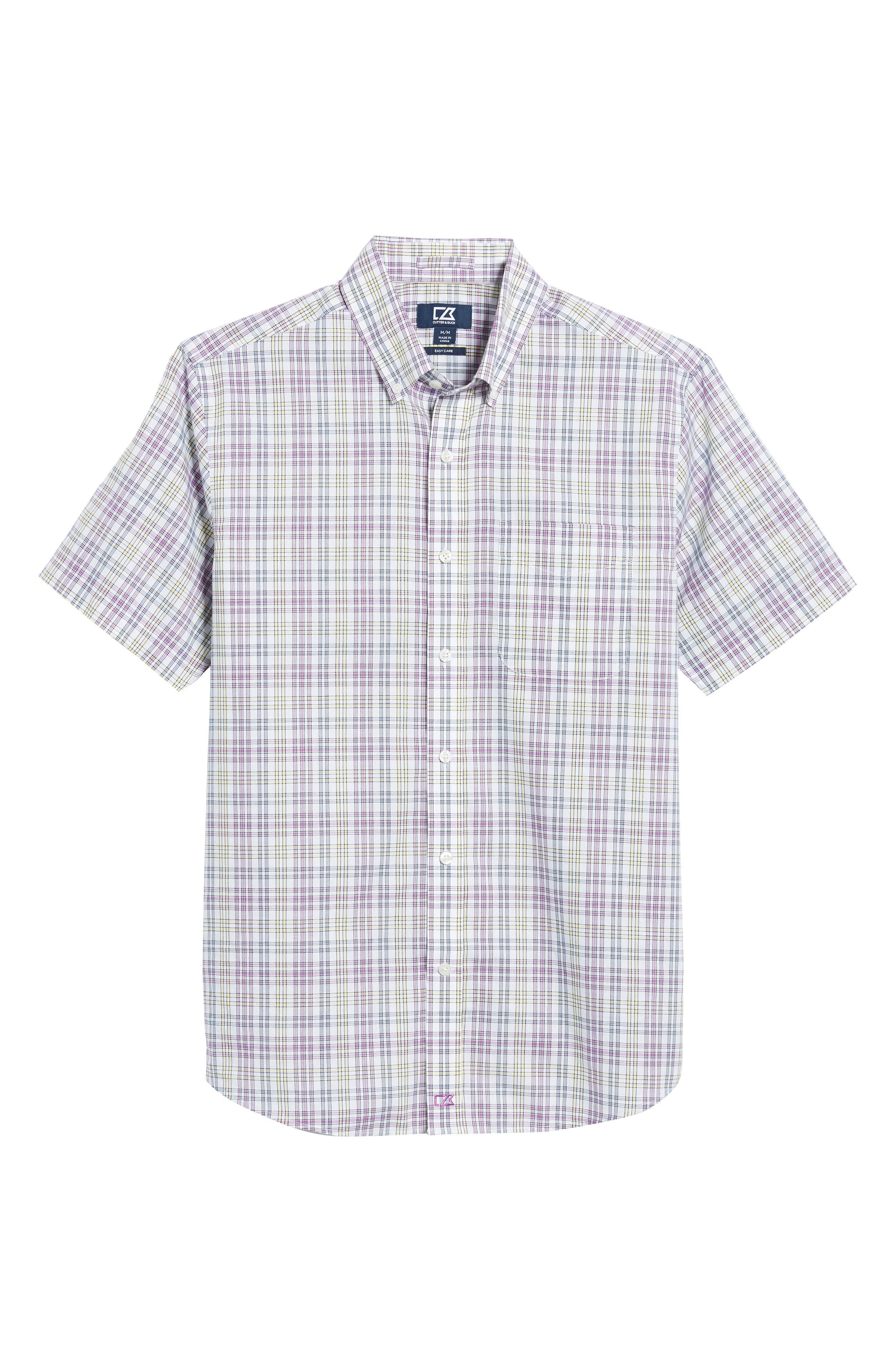 Isaac Plaid Easy Care Woven Shirt,                             Alternate thumbnail 24, color,