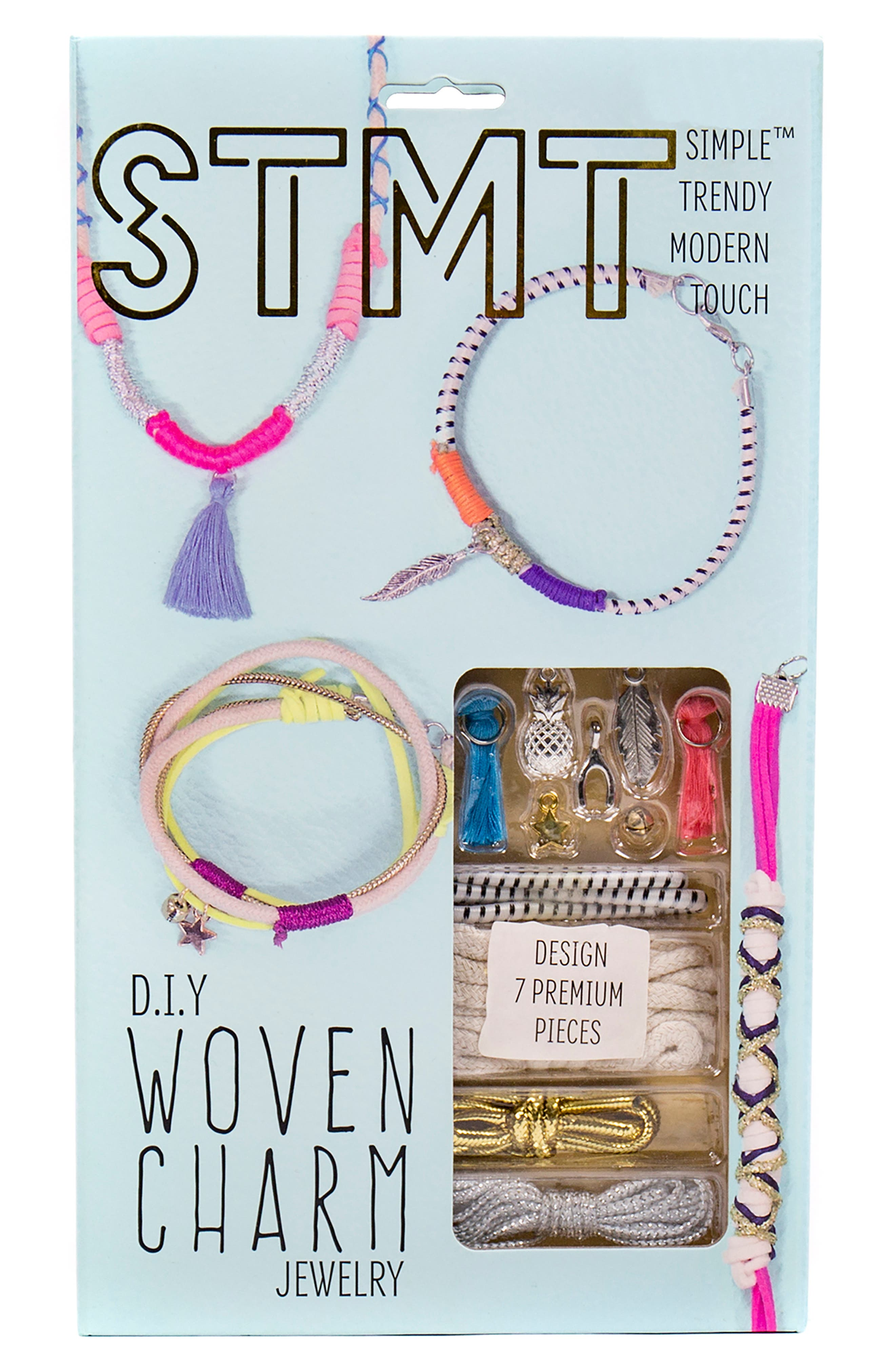 DIY Woven Charm Jewelry Set,                             Main thumbnail 1, color,                             N/ A