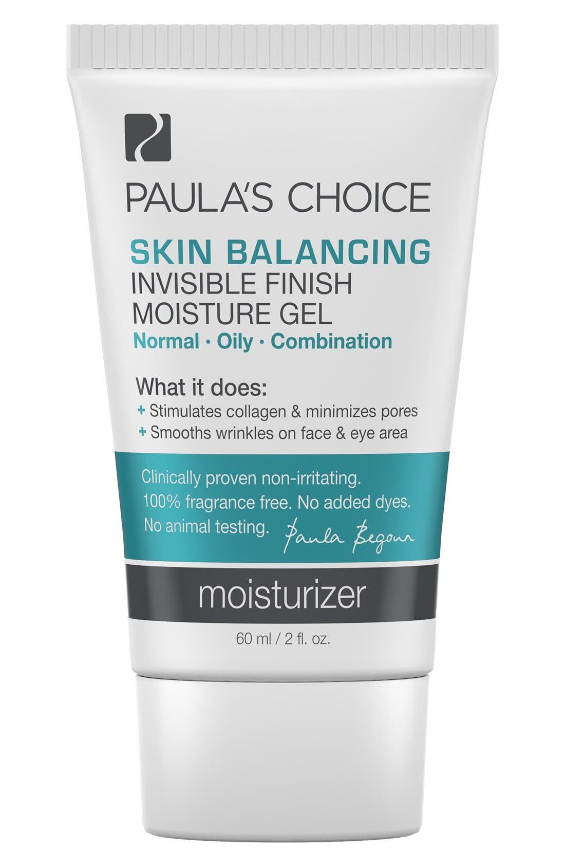 Skin Balancing Invisible Finish Moisture Gel,                             Main thumbnail 1, color,                             NO COLOR