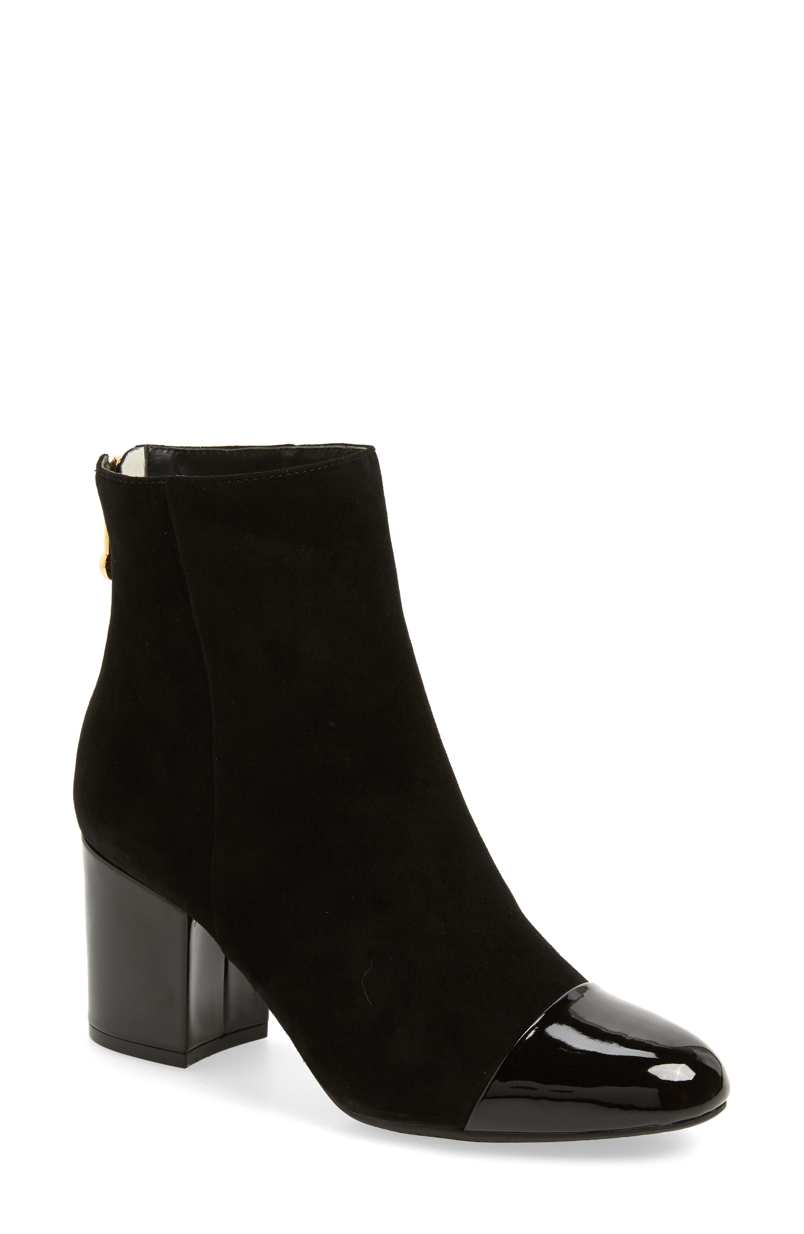 Whitaker Boot,                         Main,                         color, BLACK SUEDE/BLACK PATENT