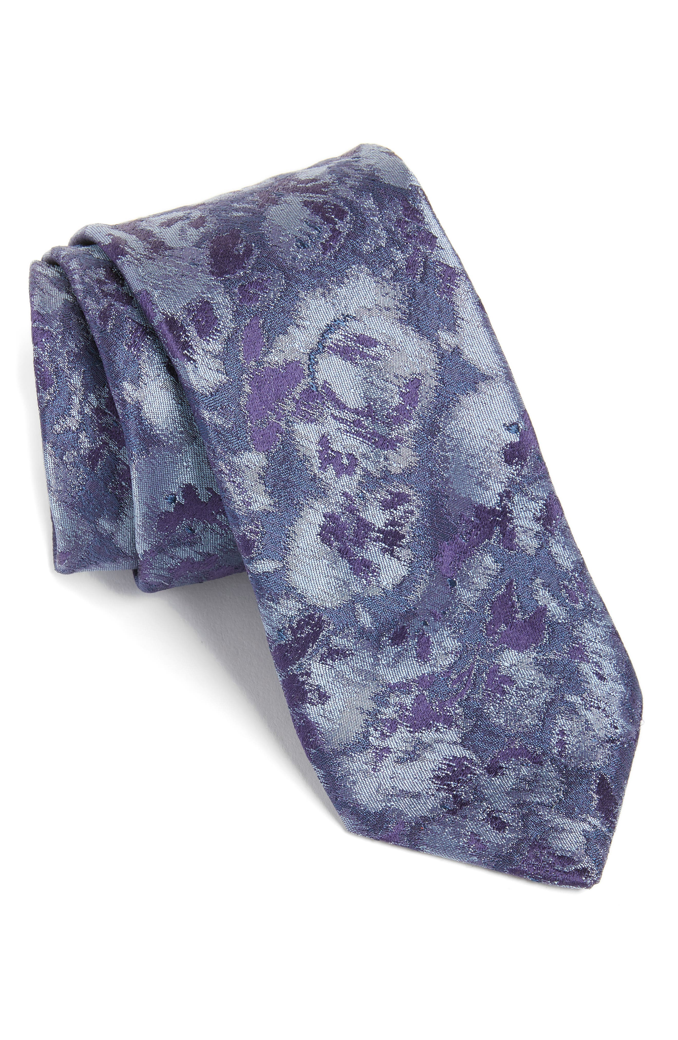 Moonlight Abstract Floral Silk Tie,                             Main thumbnail 3, color,