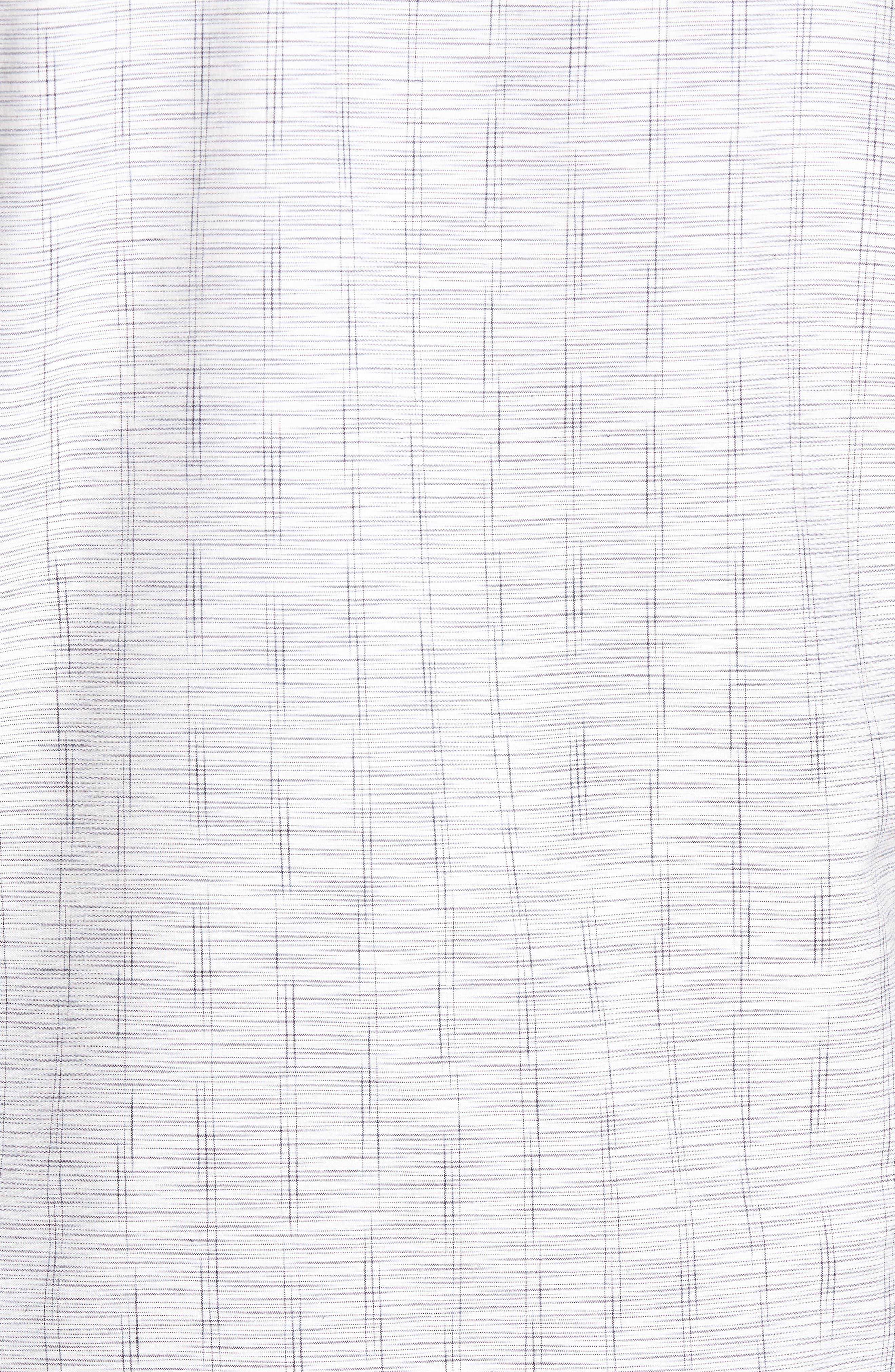 Seismic Stripe Silk Sport Shirt,                             Alternate thumbnail 5, color,                             100