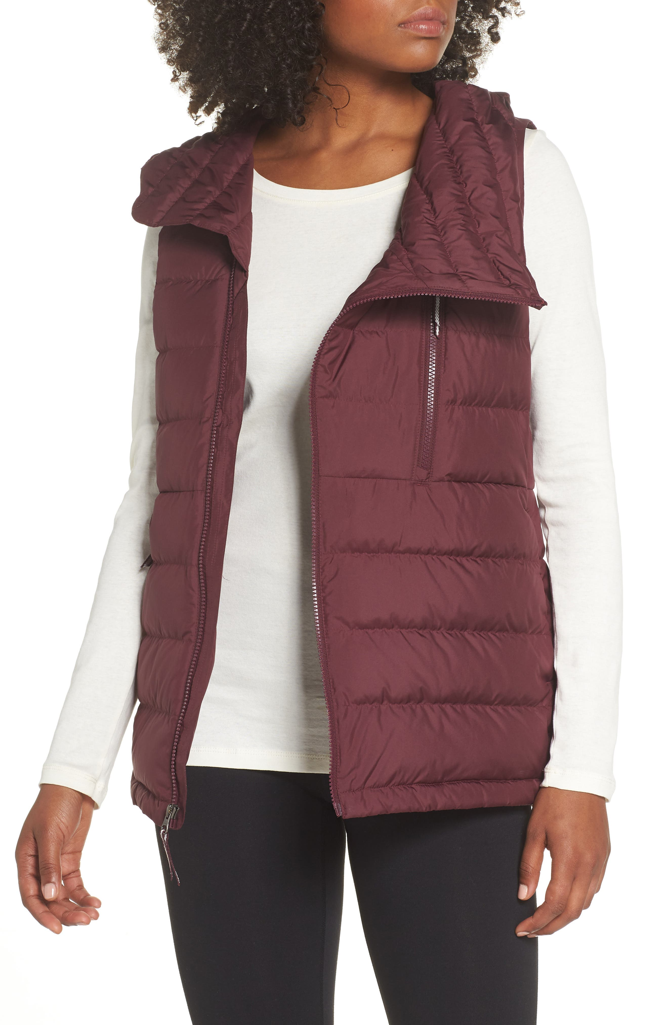 Niche Hooded Down Vest,                         Main,                         color, FIG