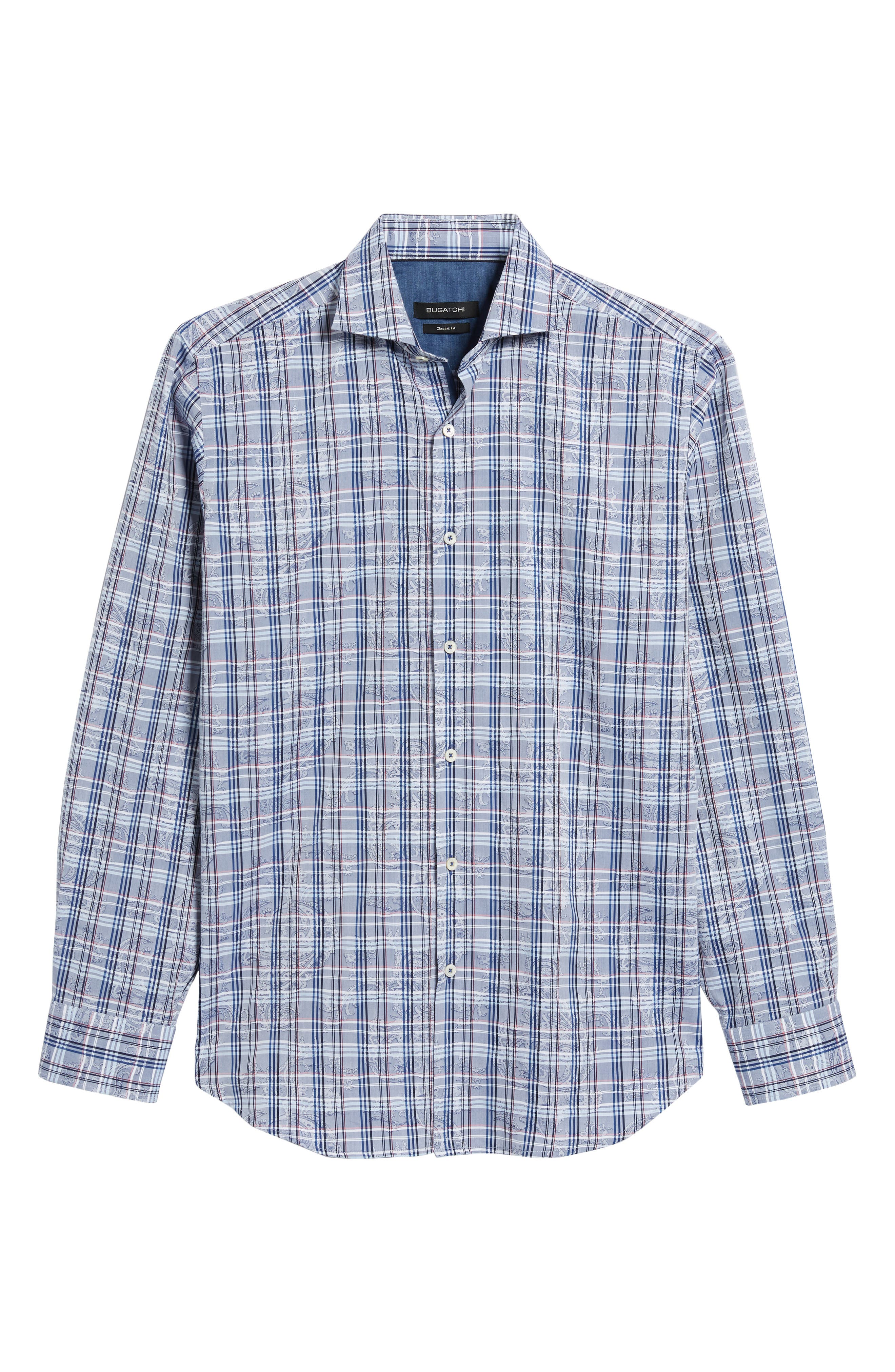 Classic Fit Check Paisley Sport Shirt,                             Alternate thumbnail 6, color,                             422