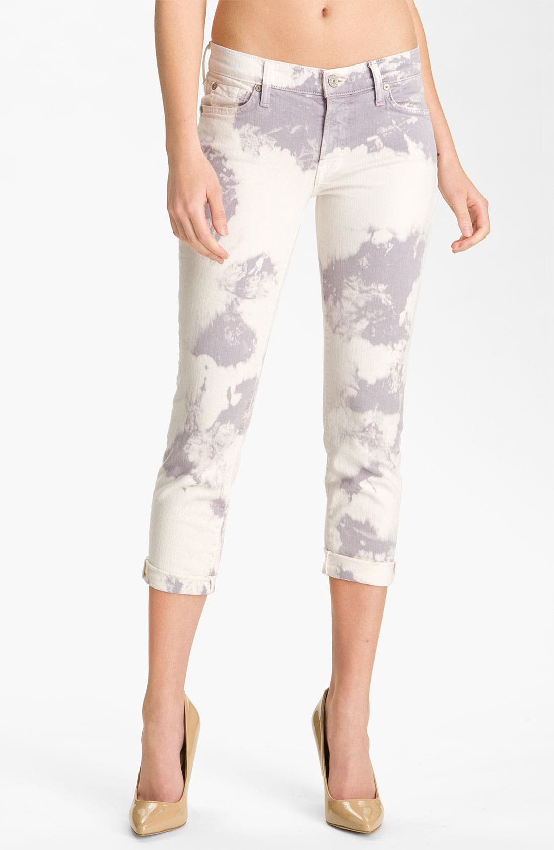 7 FOR ALL MANKIND<SUP>®</SUP> 'Roxanne' Crop Skinny Jeans, Main, color, 500