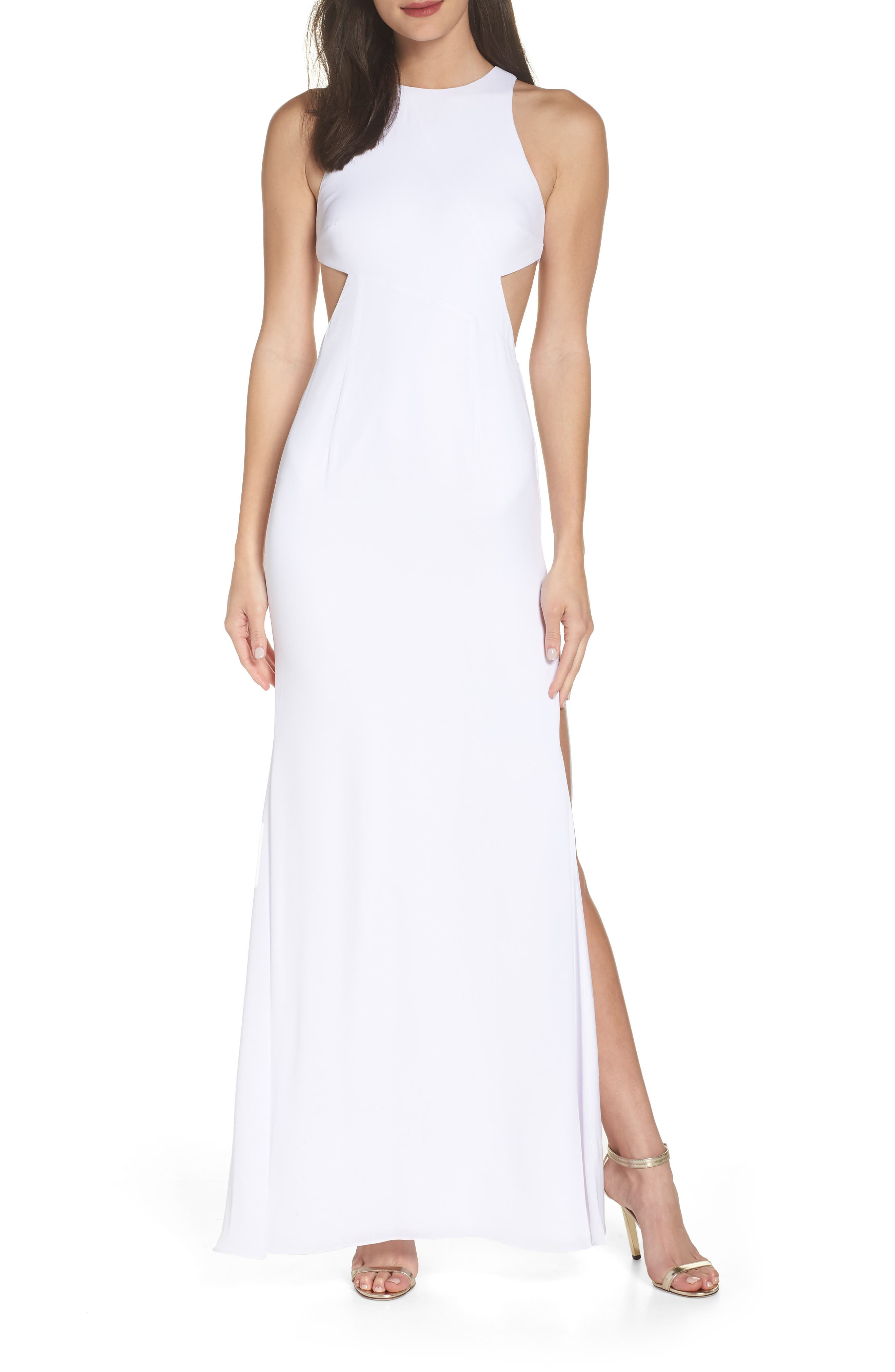 Fame & Partners The Midheaven Gown,                             Main thumbnail 1, color,                             WHITE