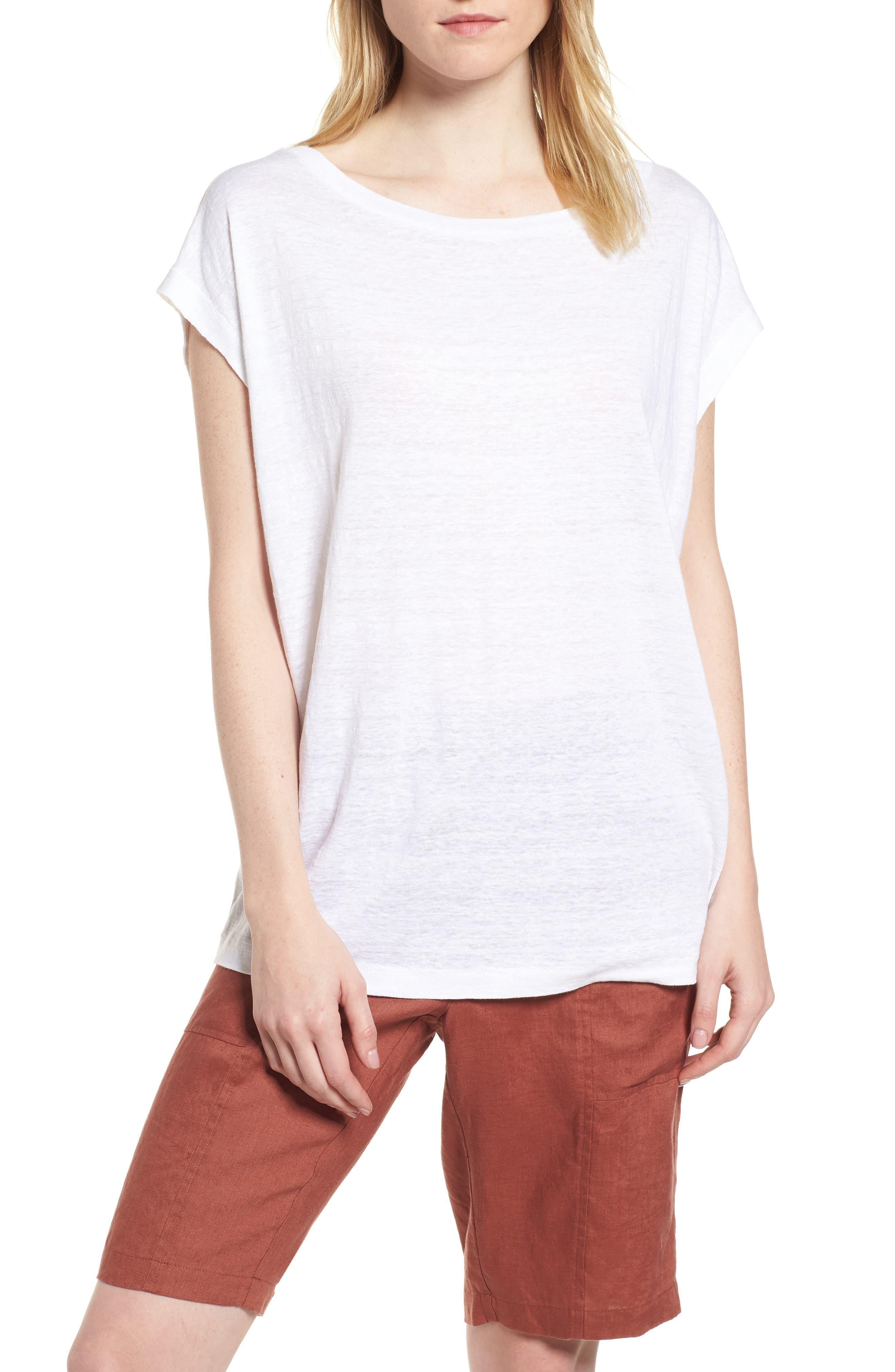 Organic Linen Top,                         Main,                         color, 100