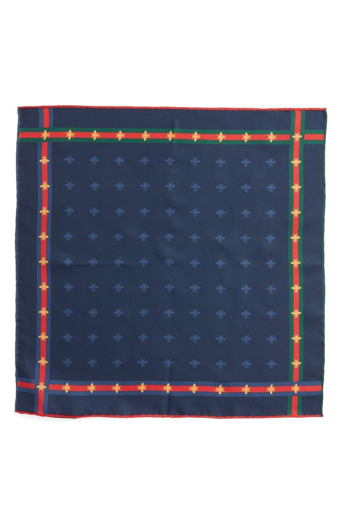 Runebis Silk Twill Pocket Square,                             Alternate thumbnail 19, color,