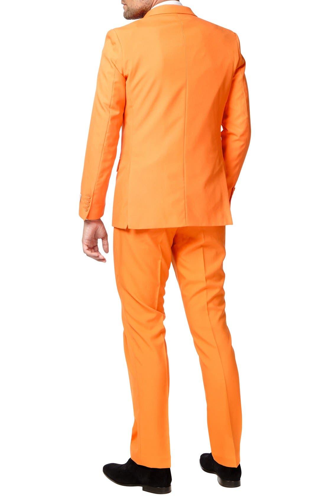 'The Orange' Trim Fit Two-Piece Suit with Tie,                             Alternate thumbnail 2, color,