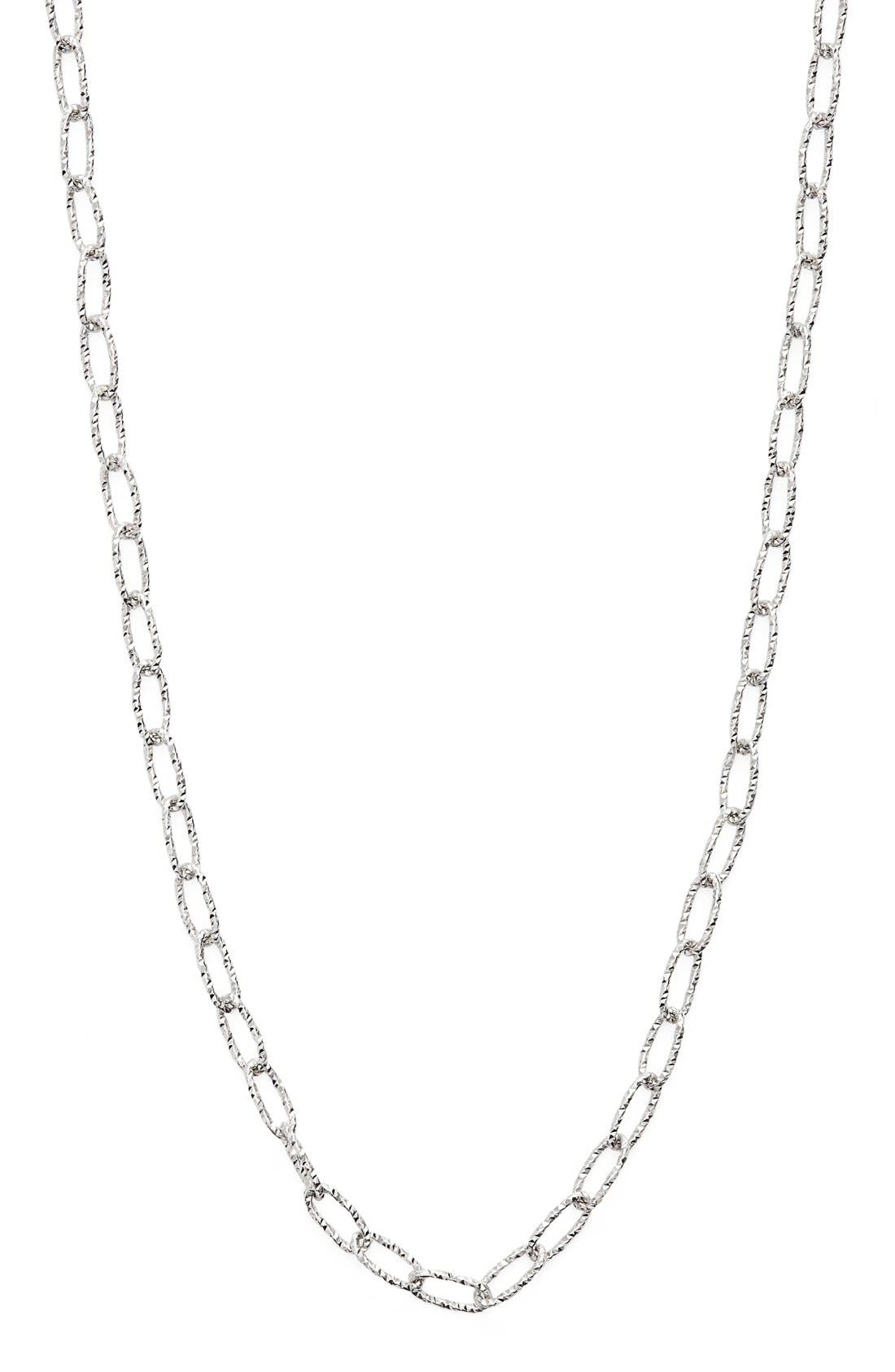 Textured Chain Necklace,                             Alternate thumbnail 3, color,