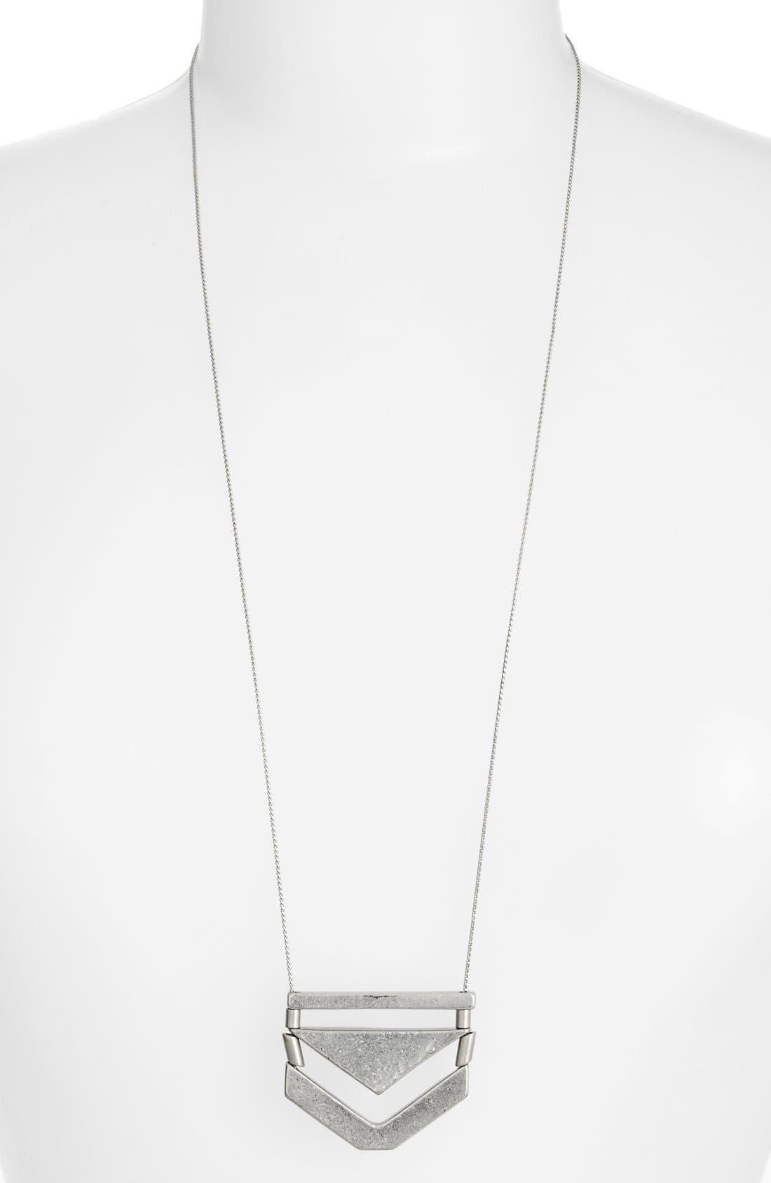 Chevron Pendant Necklace,                         Main,                         color, 040