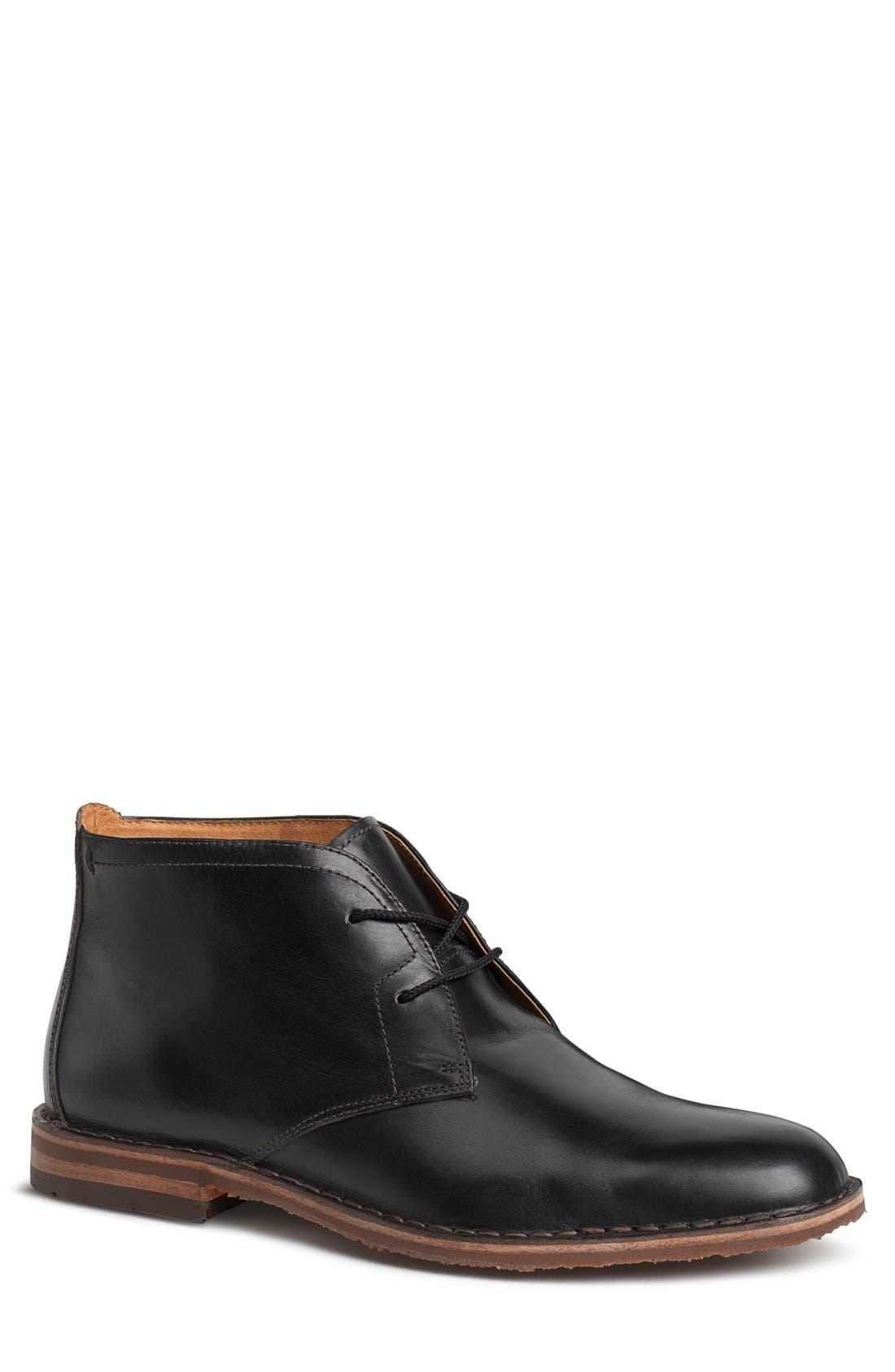 'Brady' Chukka Boot,                         Main,                         color, BLACK LEATHER