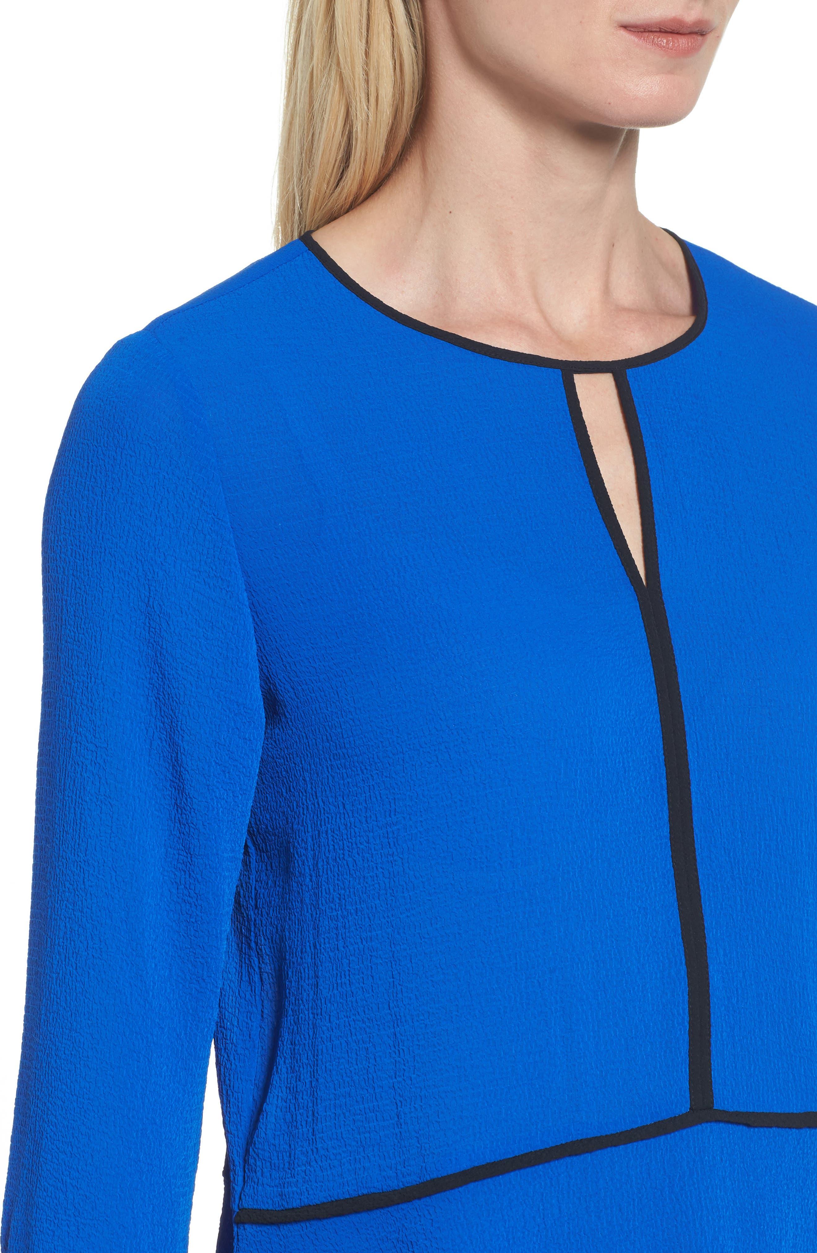 Flare Sleeve Crepe Blouse,                             Alternate thumbnail 4, color,                             421