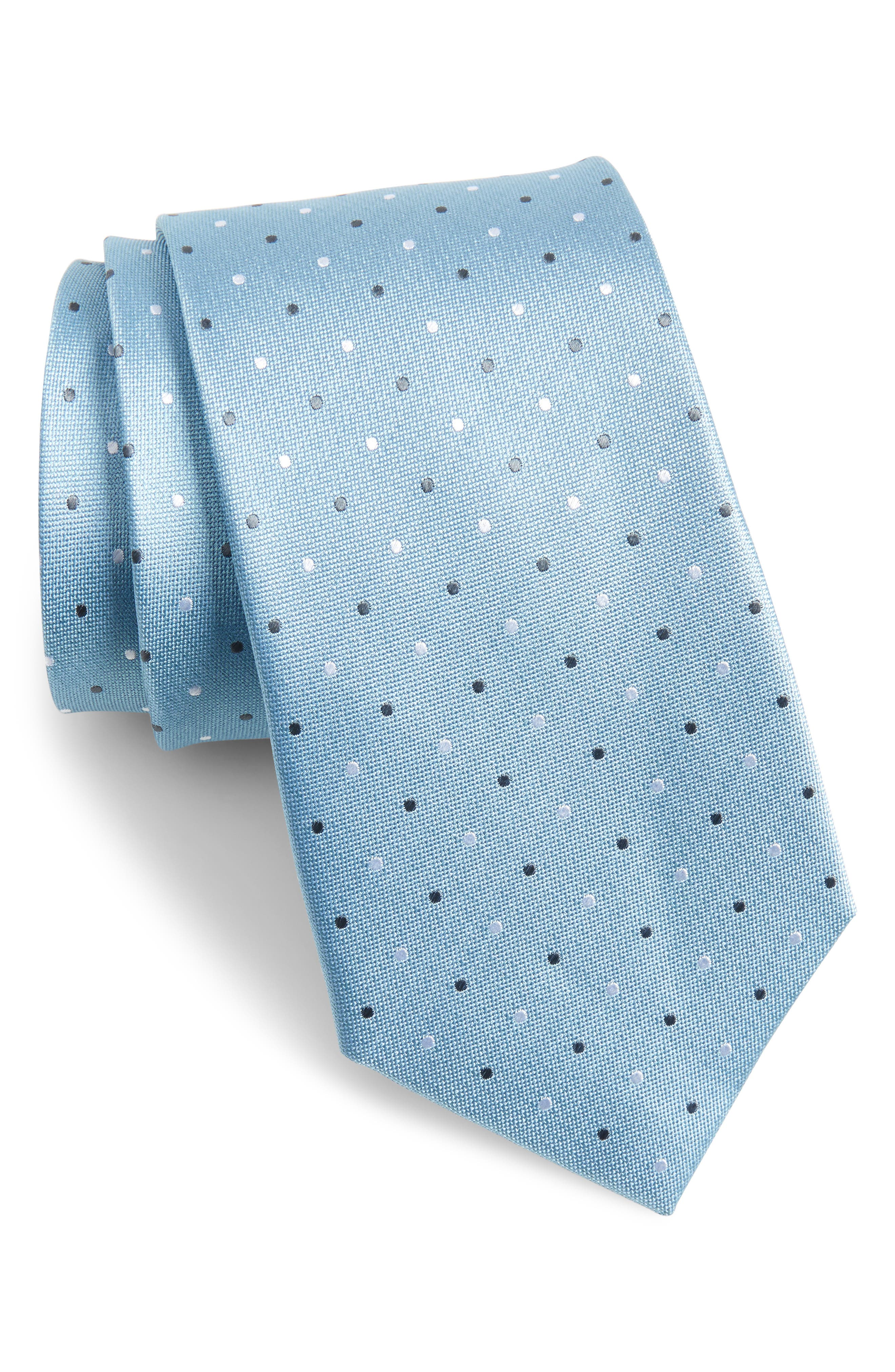 Dot Silk Tie,                             Main thumbnail 1, color,                             478