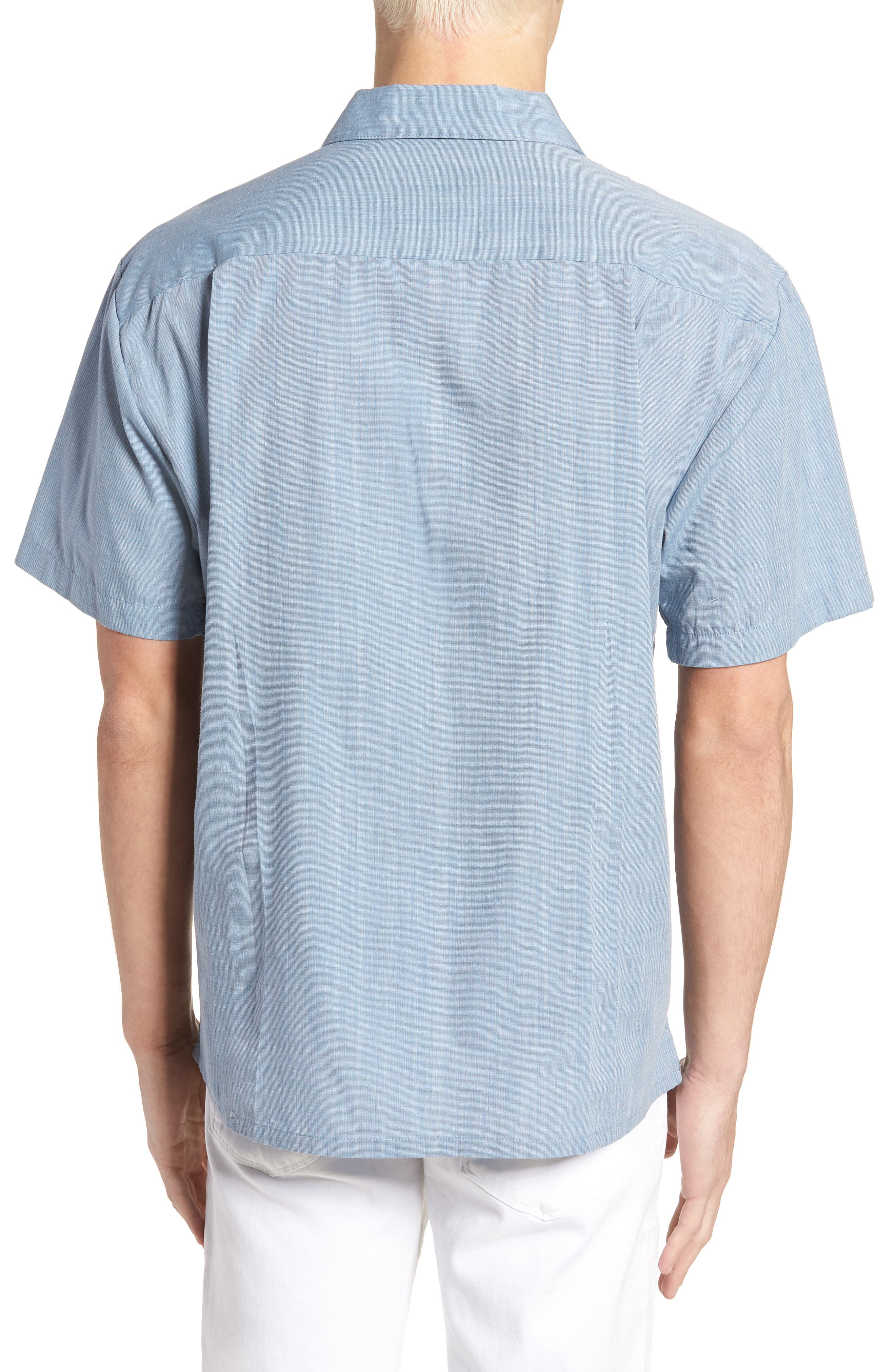 Cruze Woven Shirt,                             Alternate thumbnail 2, color,                             LIGHT BLUE