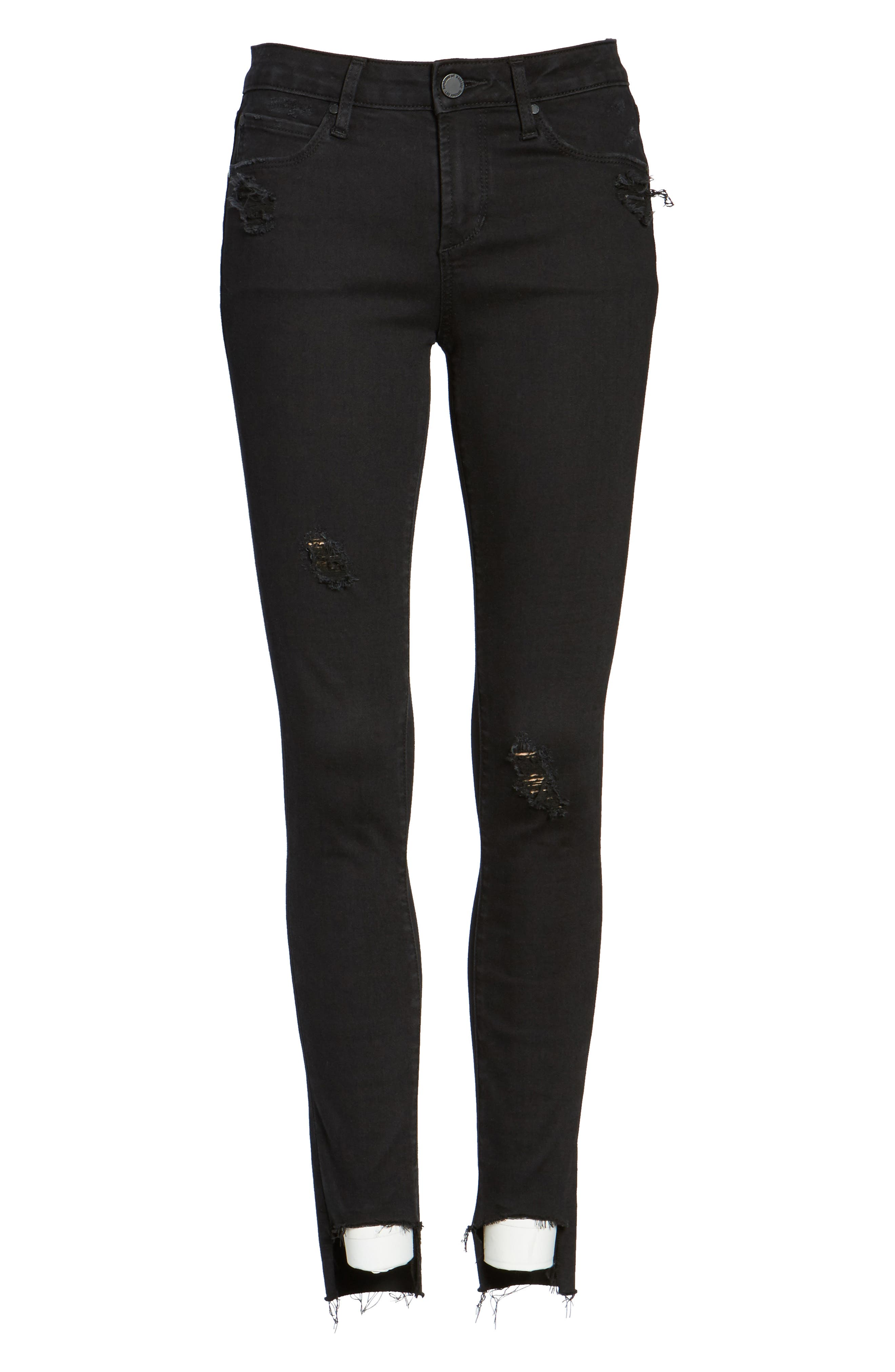 Stephanie Step Hem Skinny Jeans,                             Alternate thumbnail 6, color,