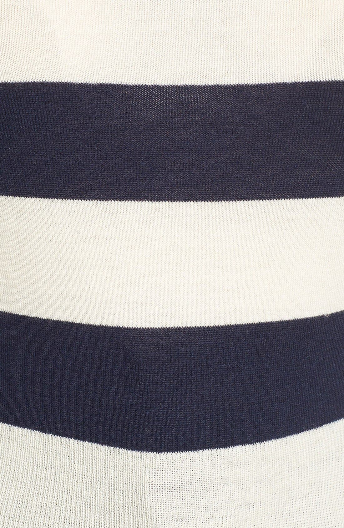 Stripe Wool & Cashmere Pullover,                             Alternate thumbnail 5, color,                             400