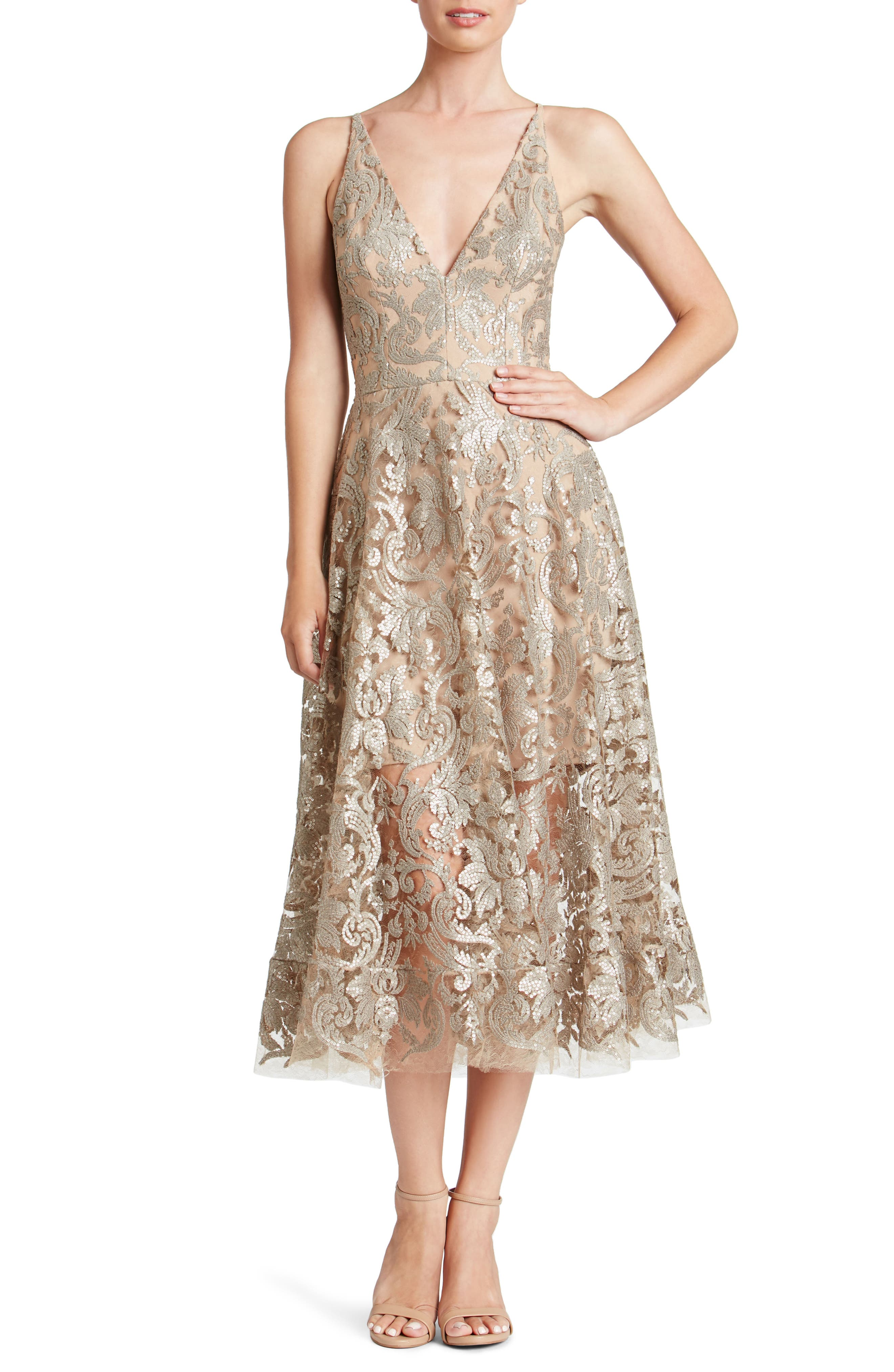Blair Embellished Fit & Flare Dress,                             Main thumbnail 2, color,