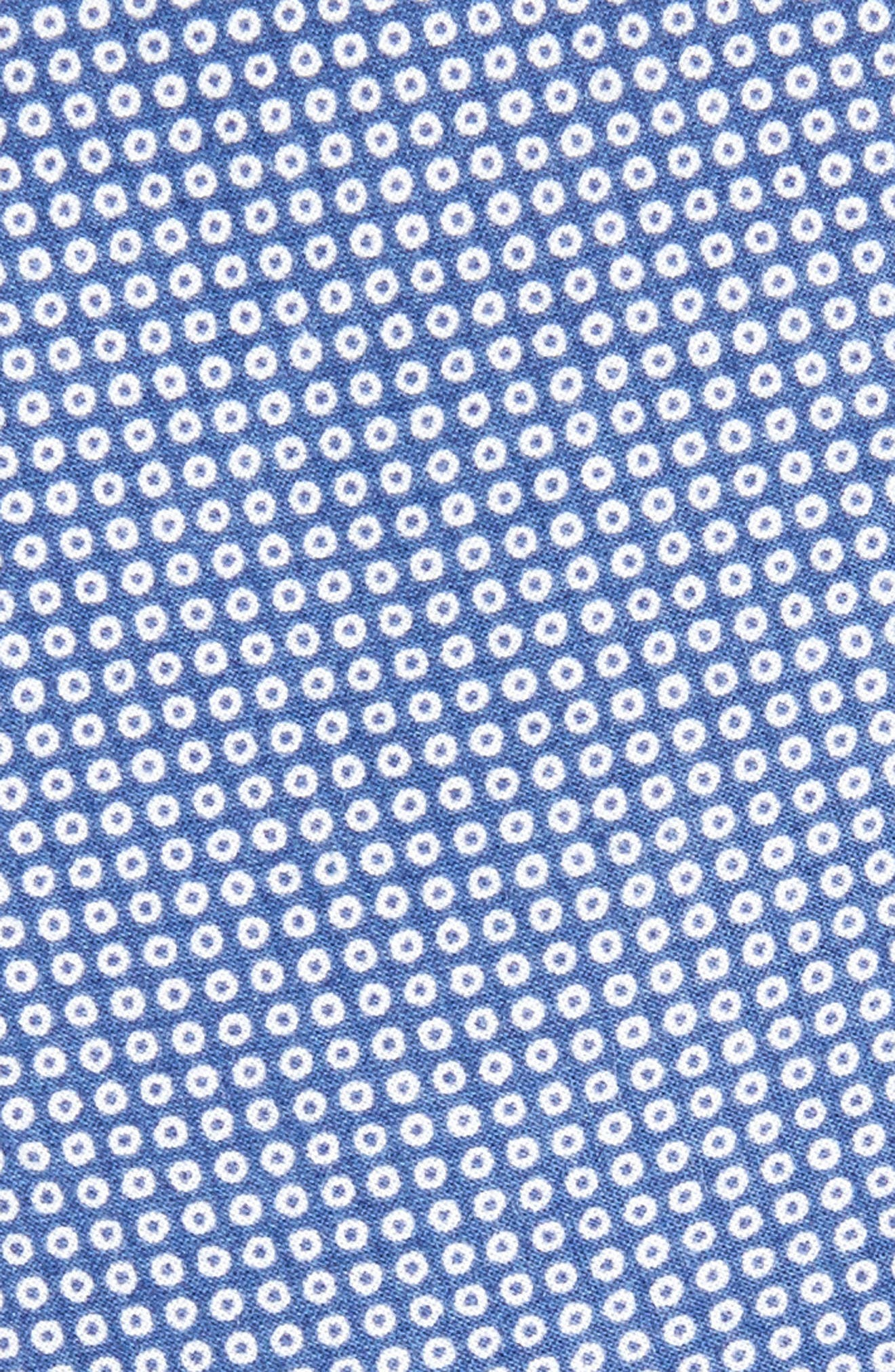 Mini Medallion Cotton Tie,                             Alternate thumbnail 2, color,                             BLUE