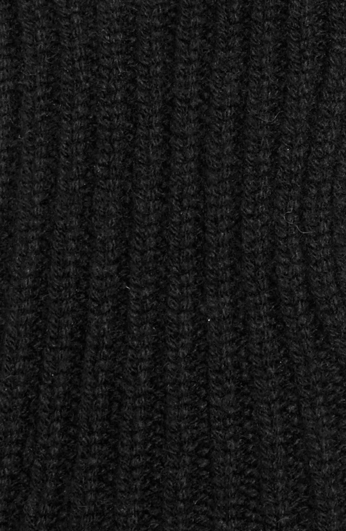 Guanti Wool & Cashmere Long Fingerless Gloves,                             Alternate thumbnail 3, color,                             001