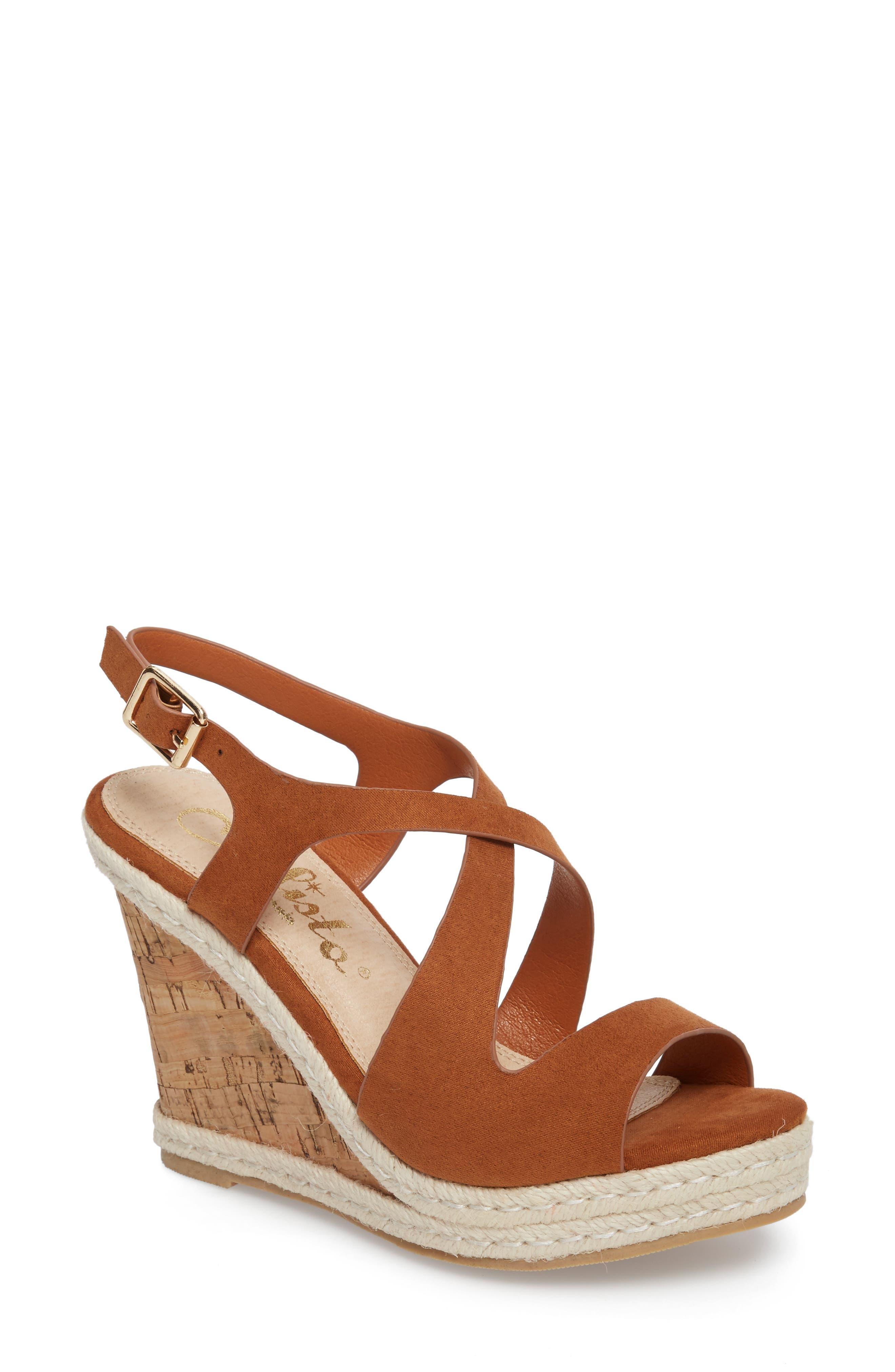 Brielle Wedge Sandal,                         Main,                         color, TAN SUEDE