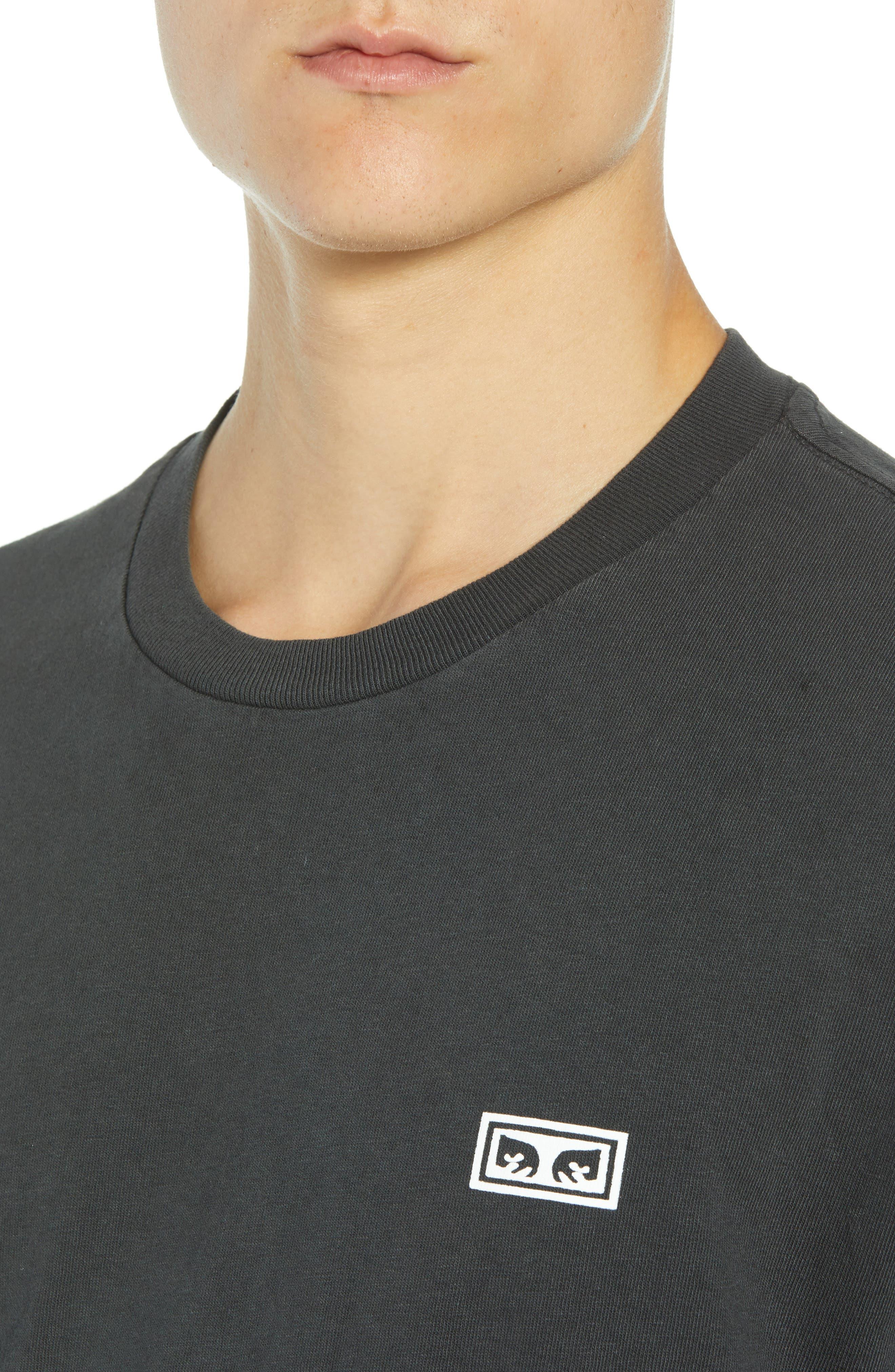 Jumble Lo-Fi Pigment T-Shirt,                             Alternate thumbnail 4, color,                             DUSTY BLACK