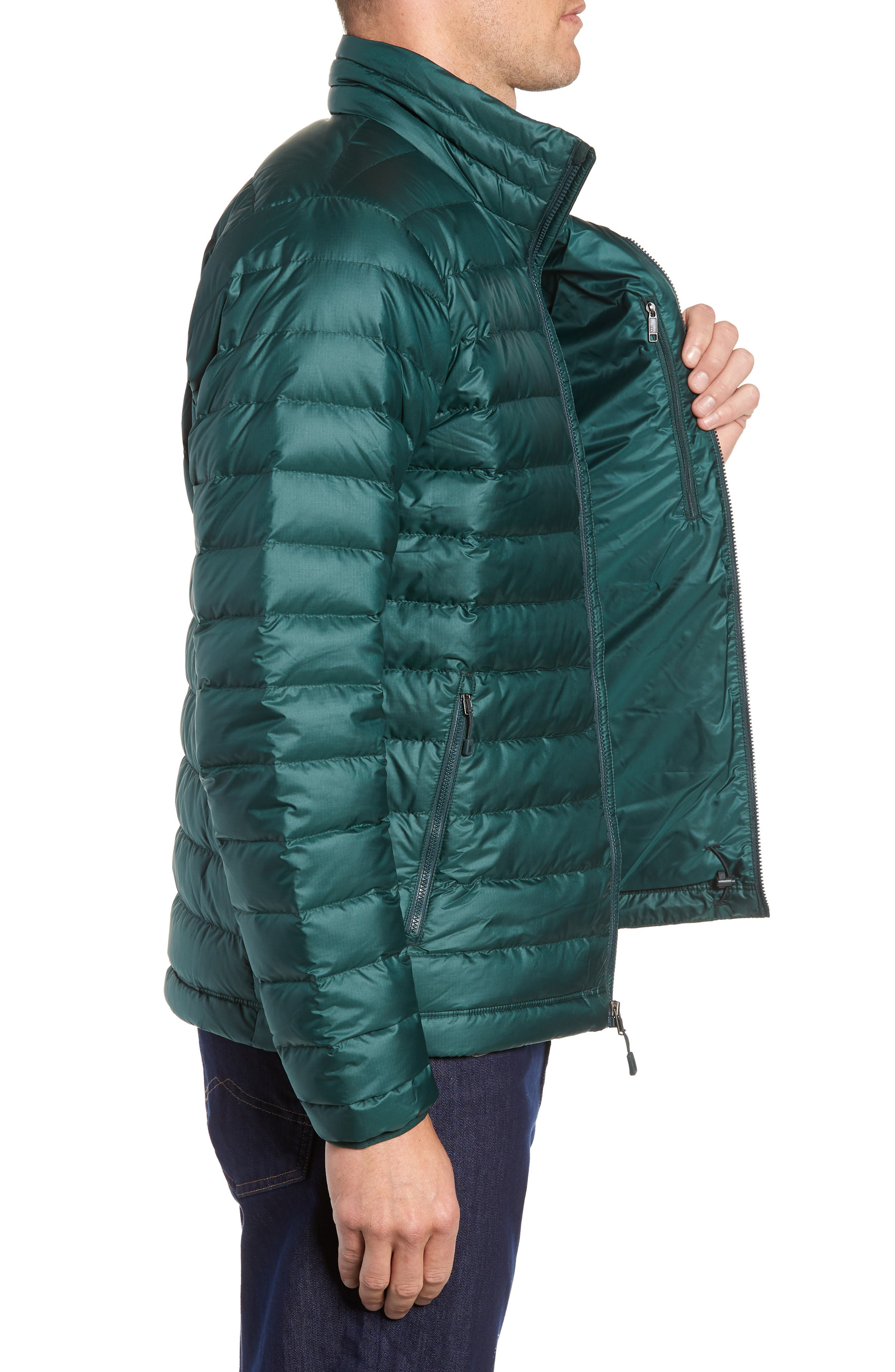 Water Repellent Down Jacket,                             Alternate thumbnail 3, color,                             MICRO GREEN
