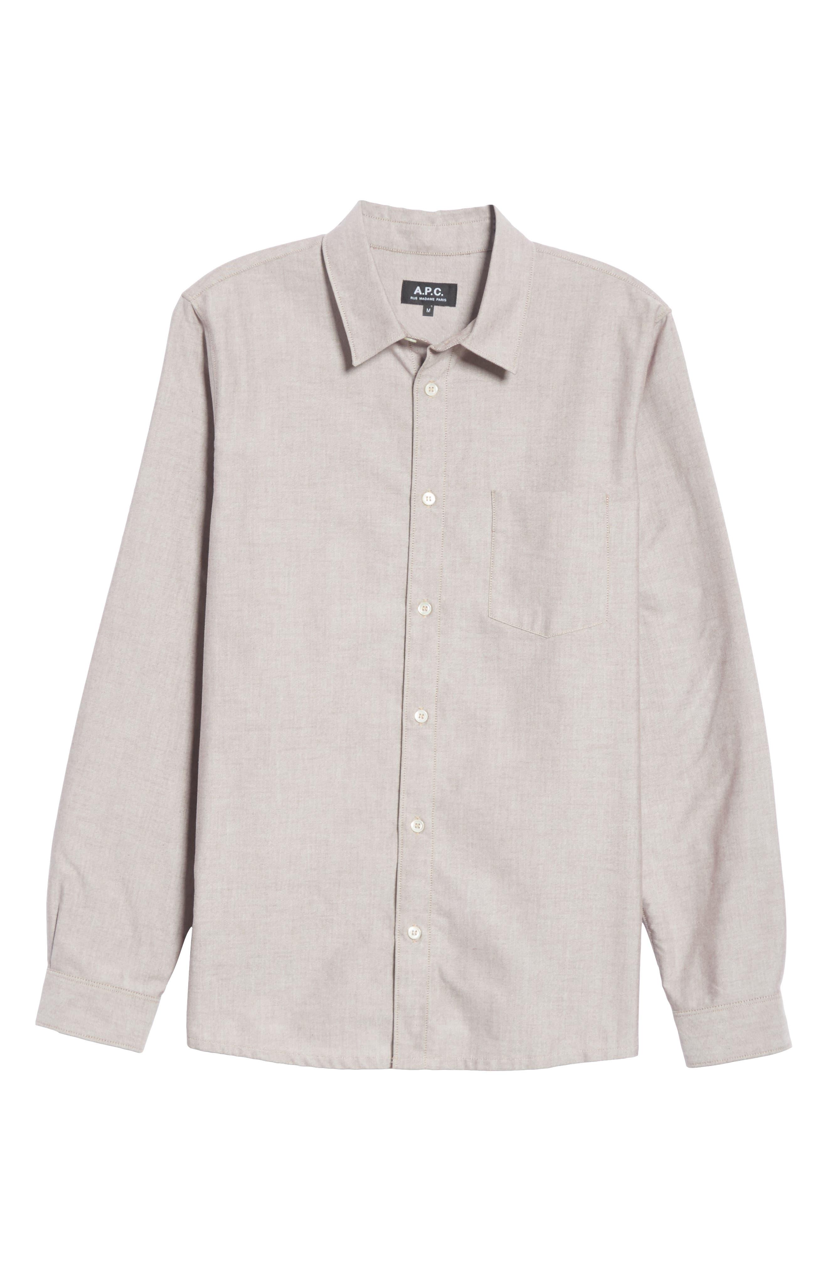 Oxford Sport Shirt,                             Alternate thumbnail 6, color,                             GAC BORDE