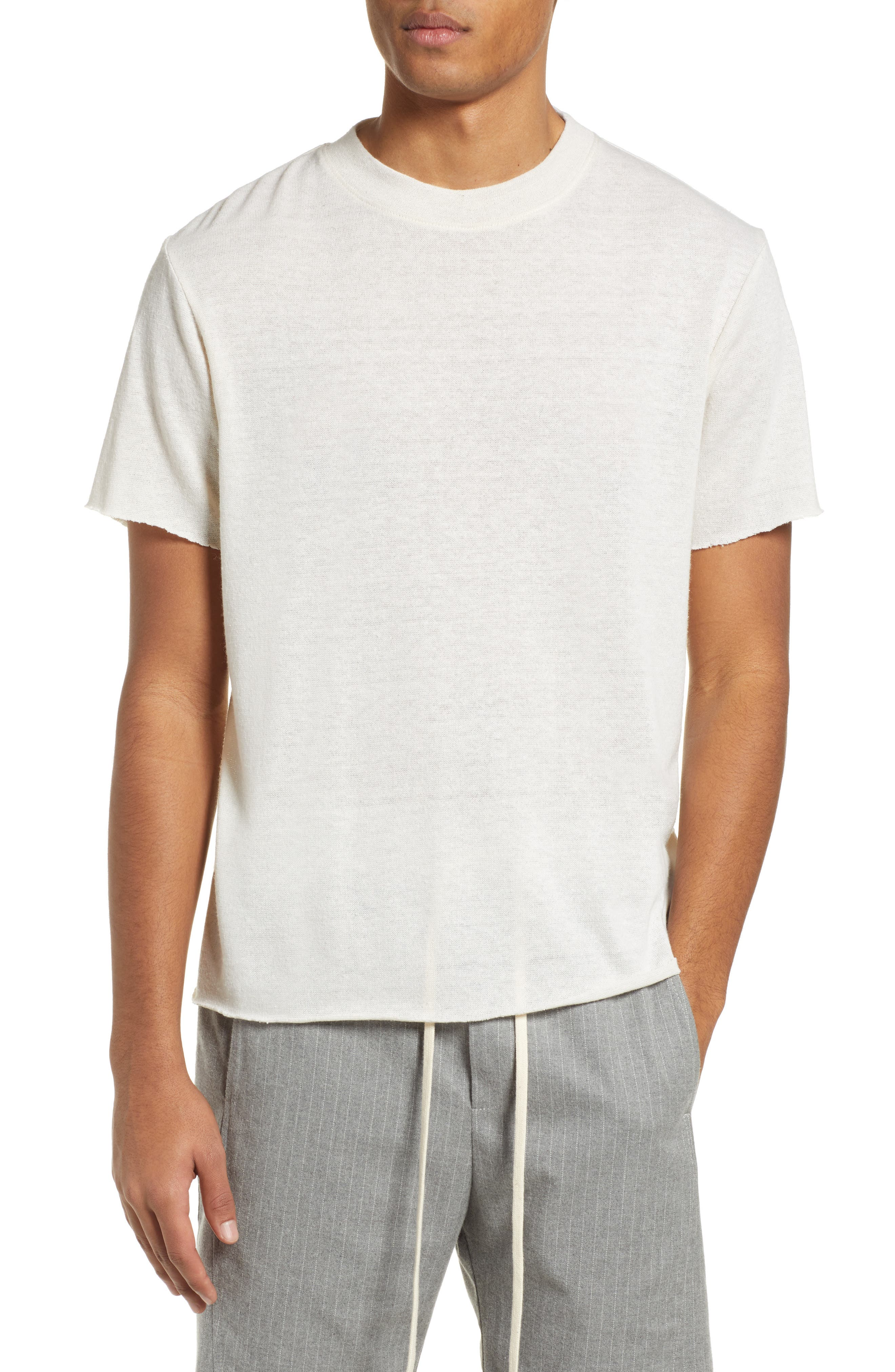 Twenty Commune Raw Hem T-Shirt, Ivory