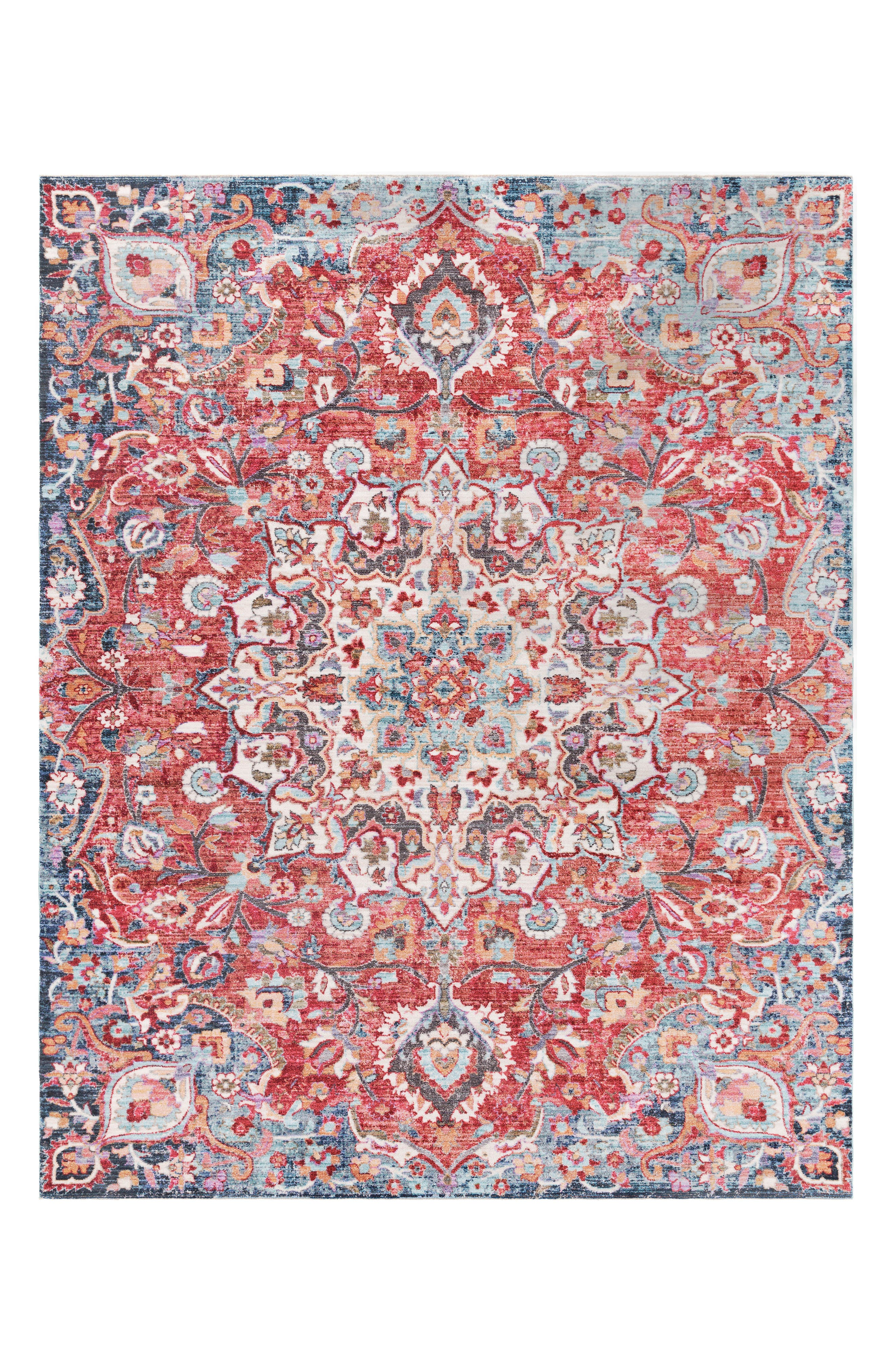 Rumi Area Rug,                             Main thumbnail 1, color,                             RED