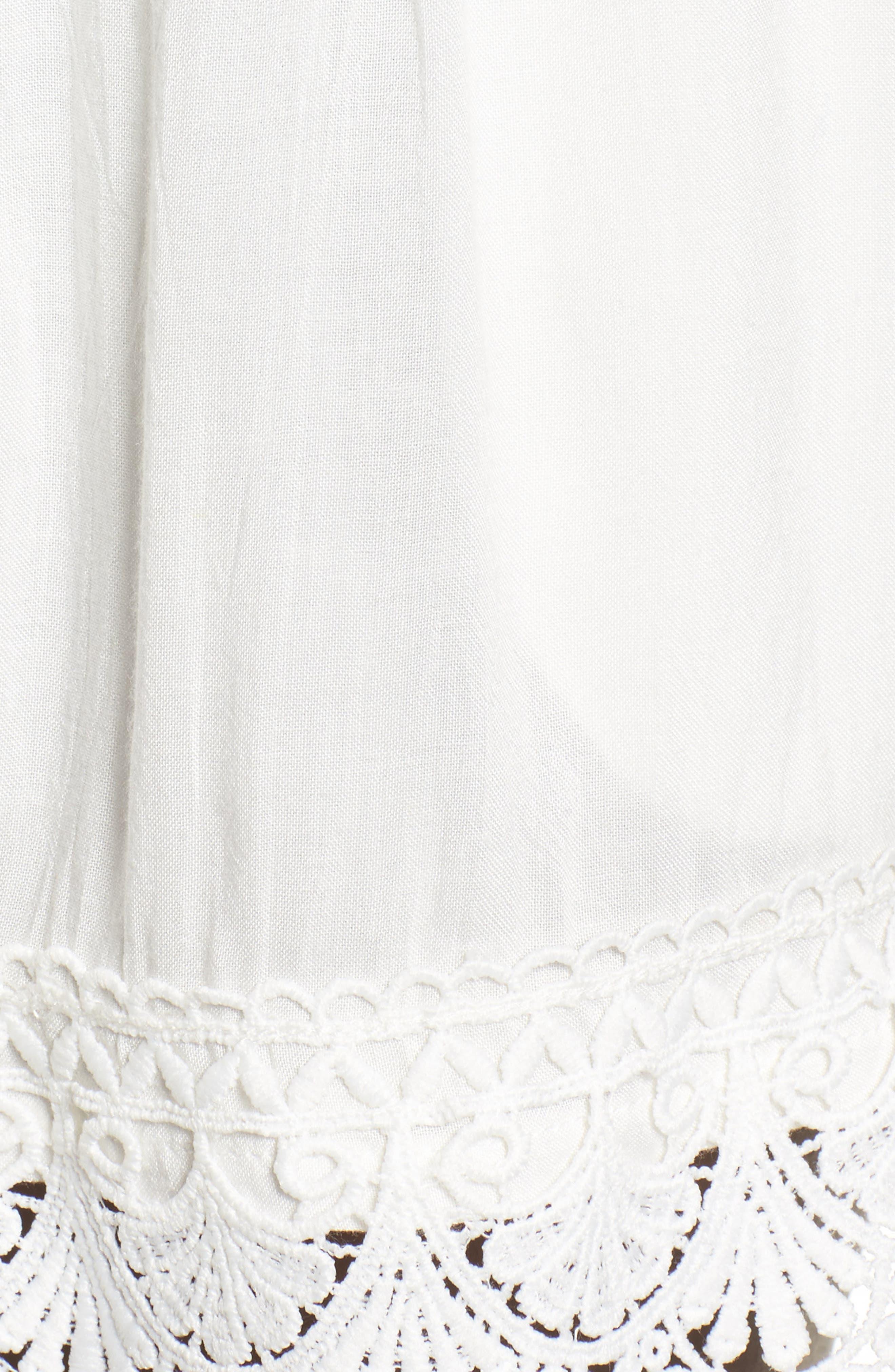 Lace Hem Shorts,                             Alternate thumbnail 5, color,                             100