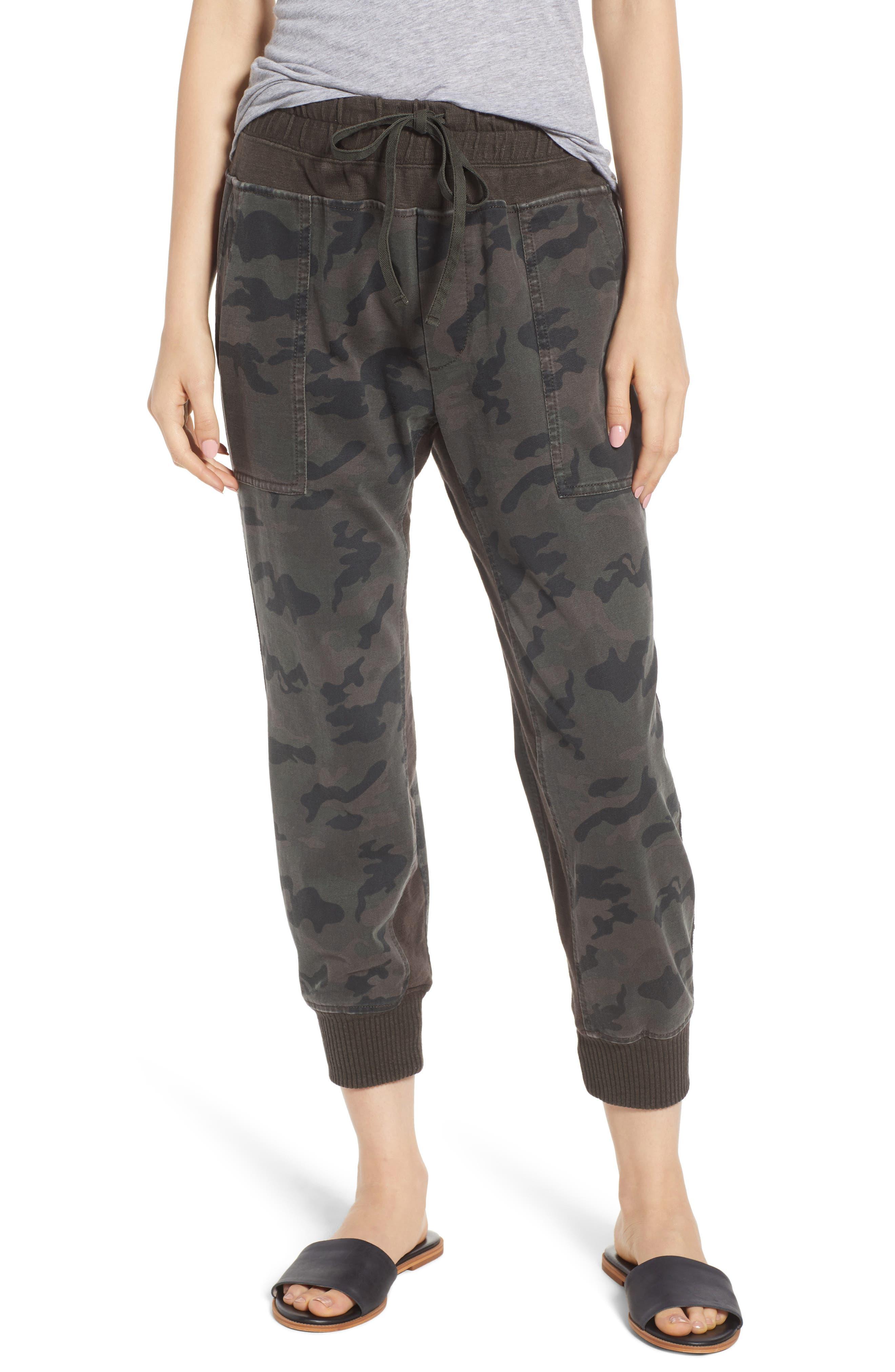 Contrast Waist Camo Jogger Pants, Main, color, 005