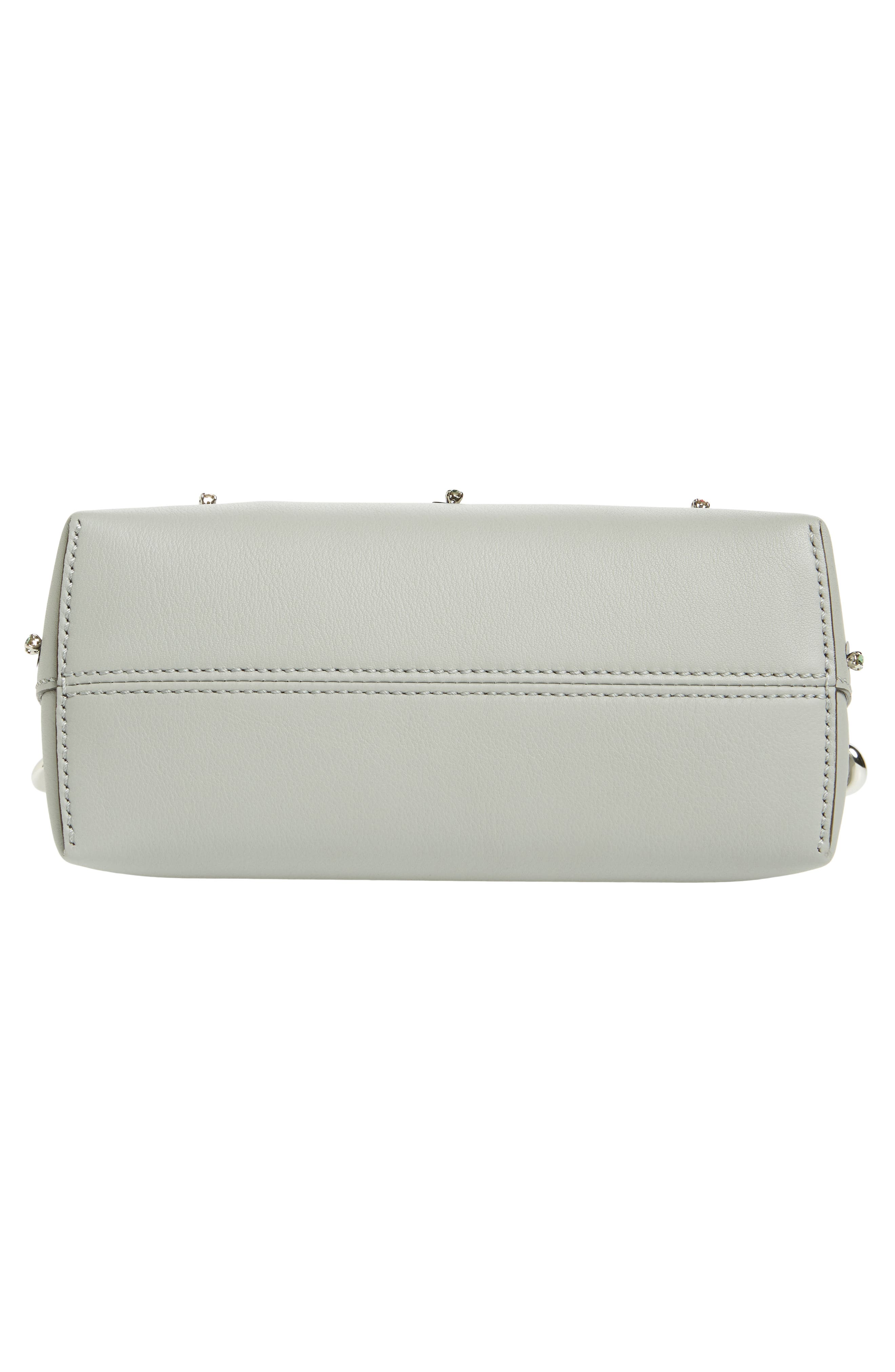 Mini By the Way Crystal Embellished Convertible Leather Crossbody Bag,                             Alternate thumbnail 6, color,                             050