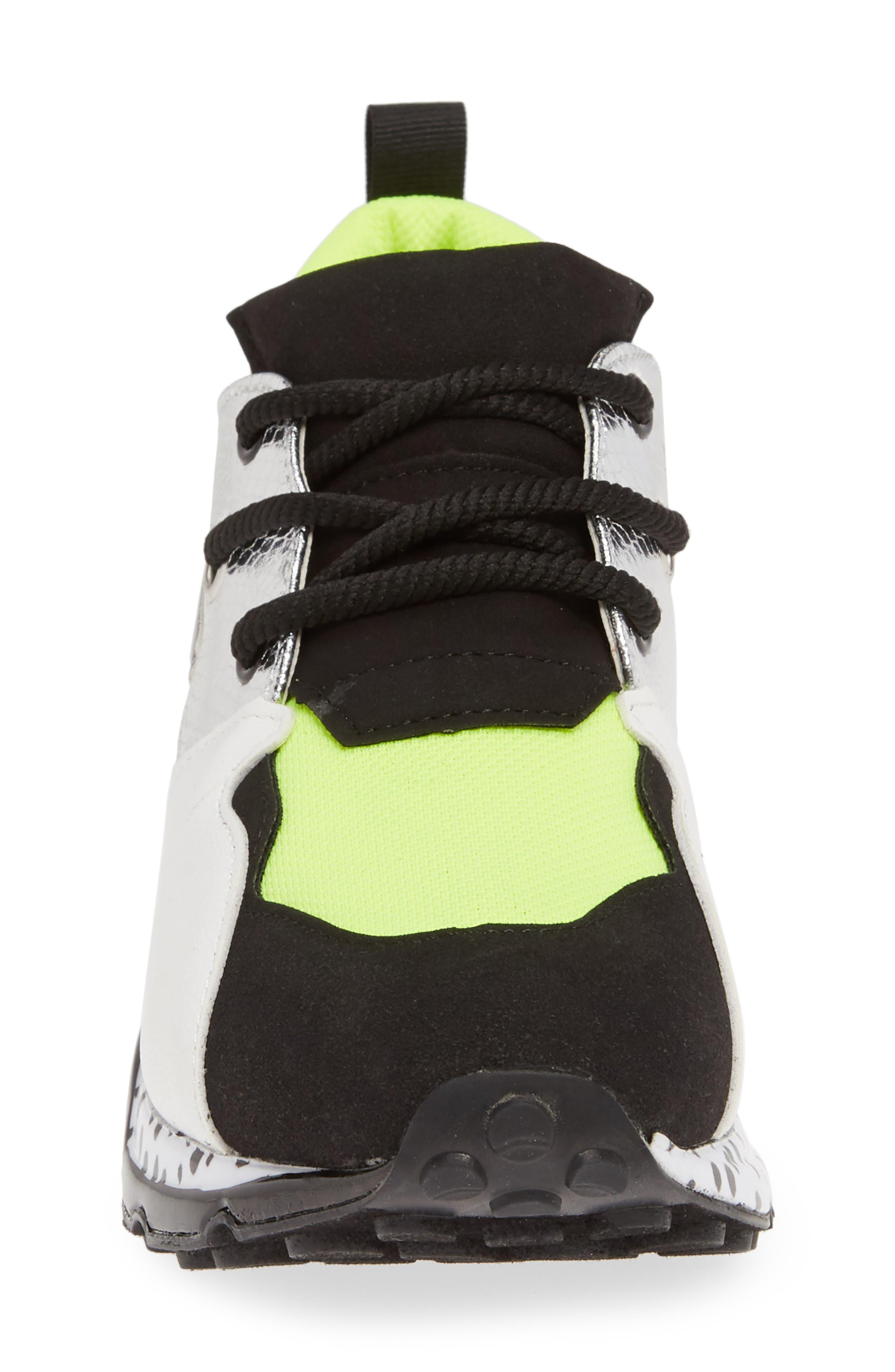 Cliff Sneaker,                             Alternate thumbnail 4, color,                             NEON GREEN