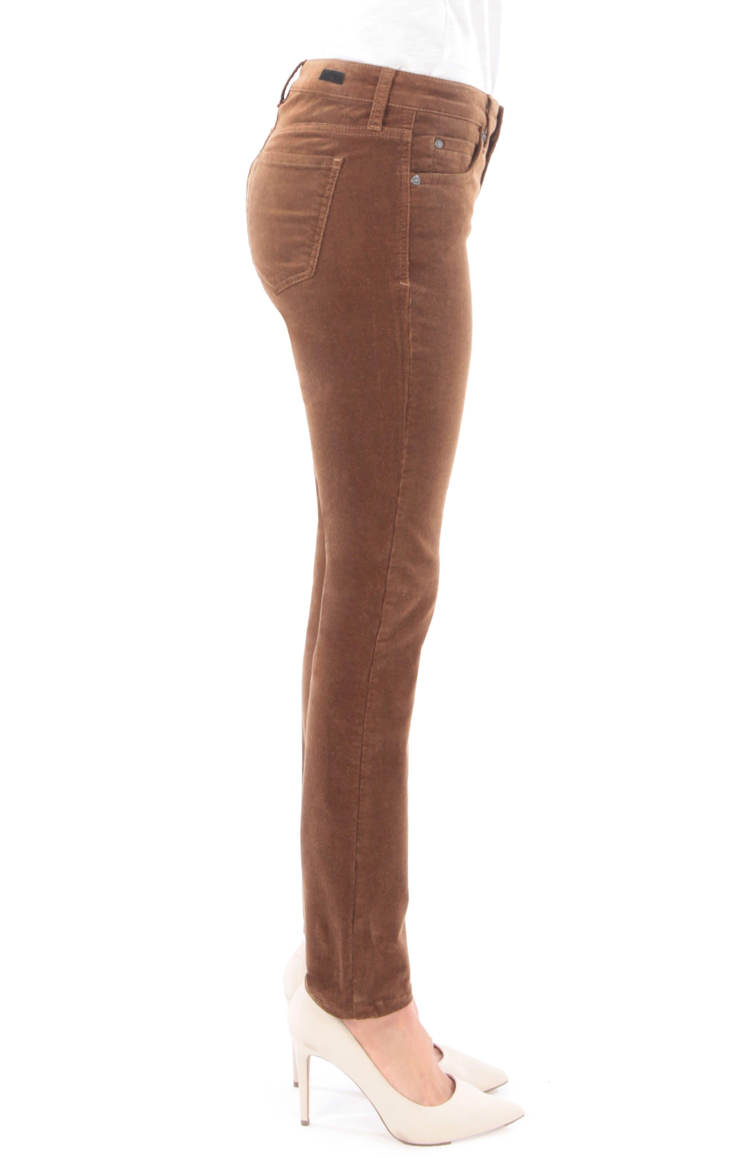 'Diana' Stretch Corduroy Skinny Pants,                             Alternate thumbnail 120, color,