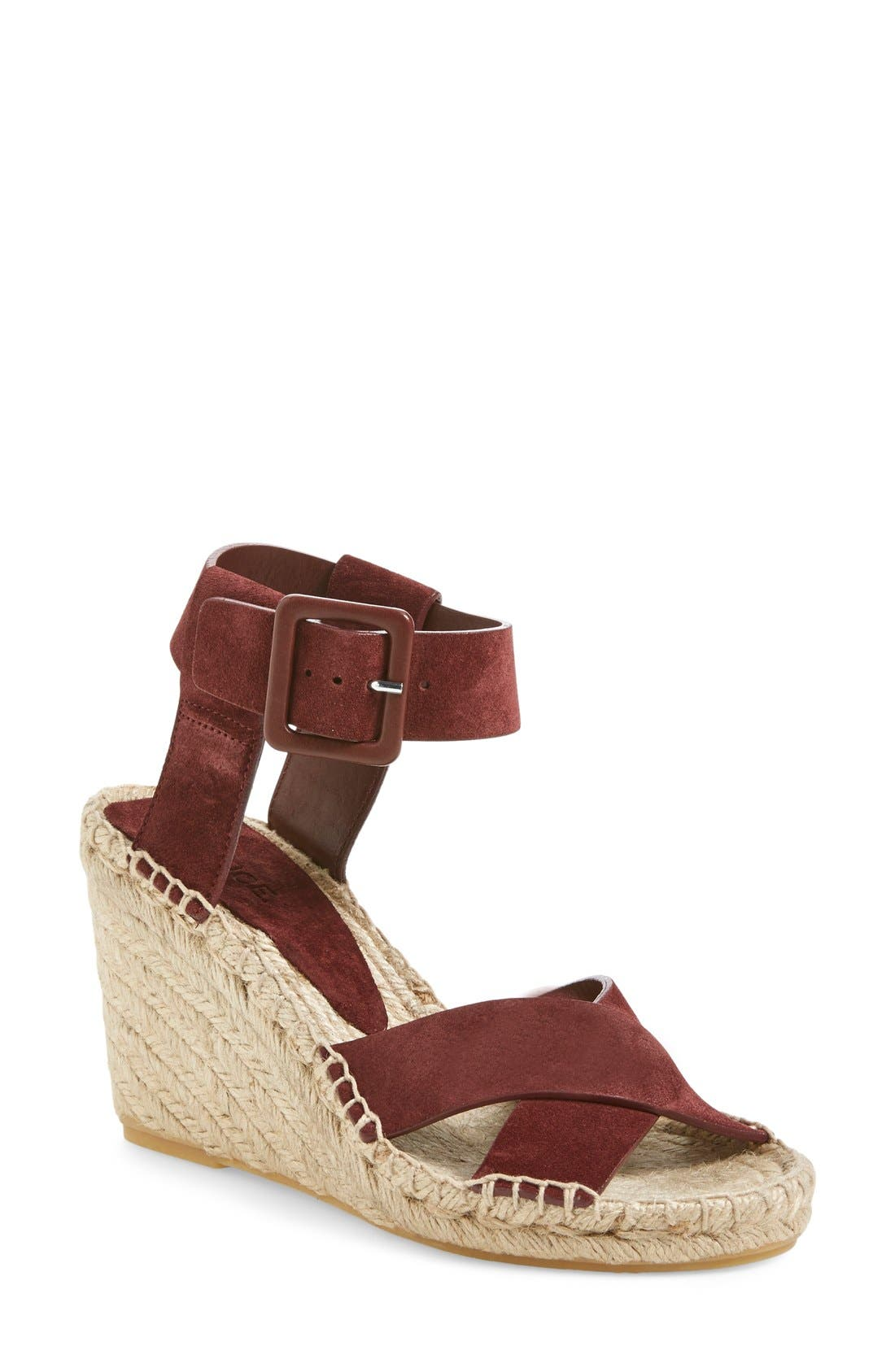 'Stefania' Espadrille Wedge Sandal,                             Main thumbnail 1, color,                             200