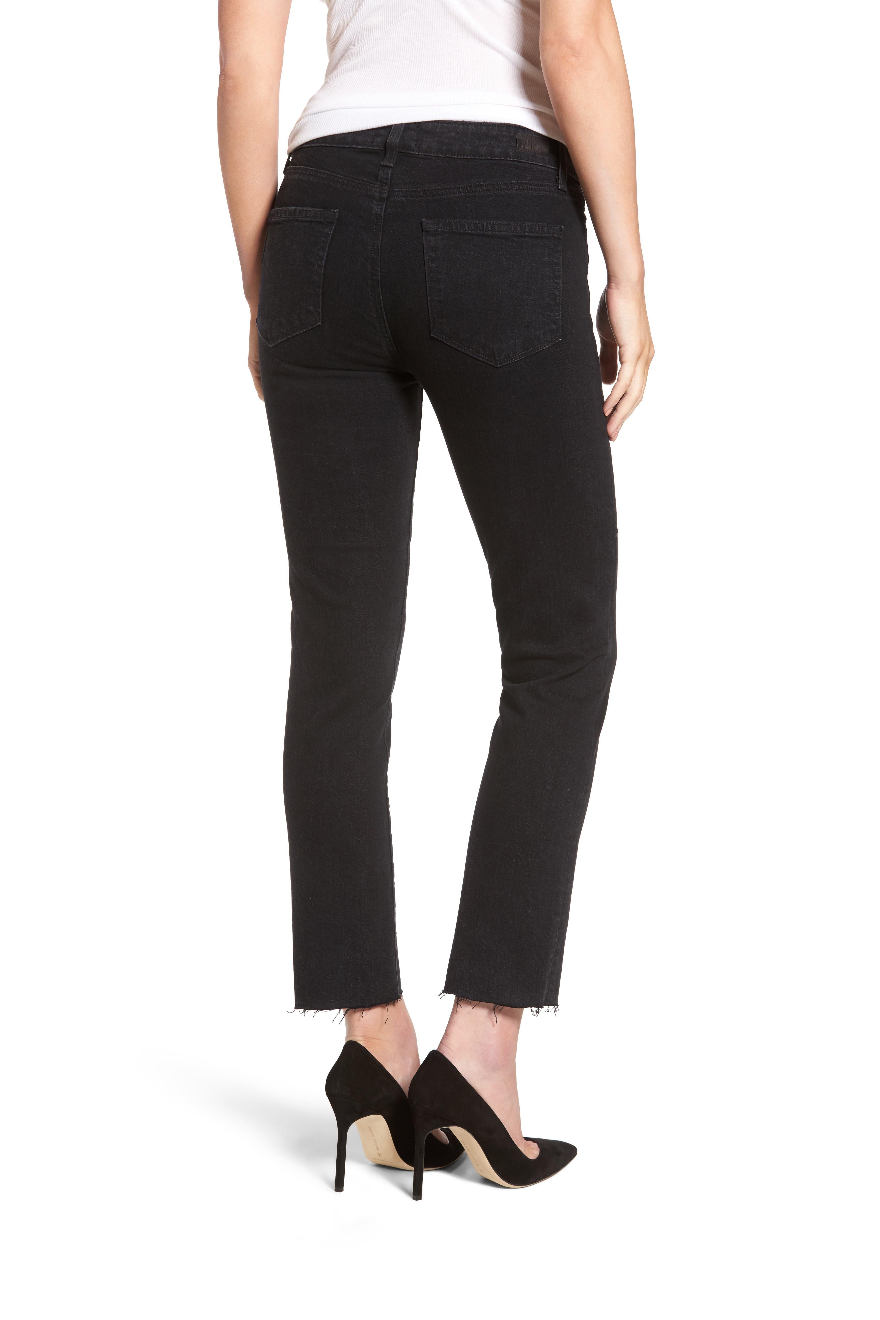 Jacqueline High Waist Crop Straight Leg Jeans,                             Alternate thumbnail 2, color,                             001