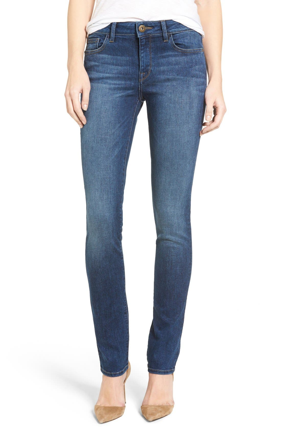 Mara Straight Leg Jeans,                             Alternate thumbnail 3, color,                             405