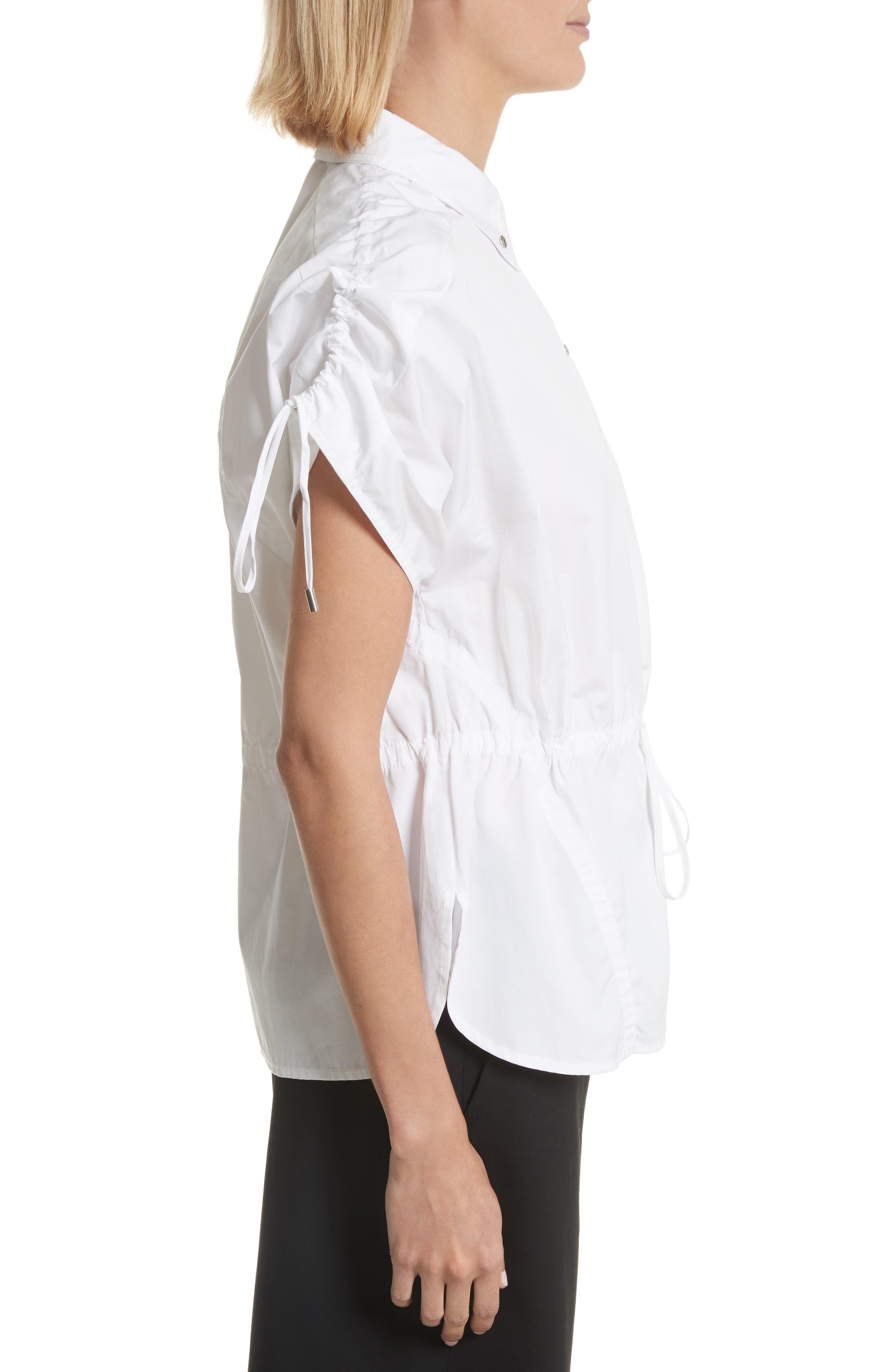 Cotton Poplin Shirt,                             Alternate thumbnail 3, color,                             110