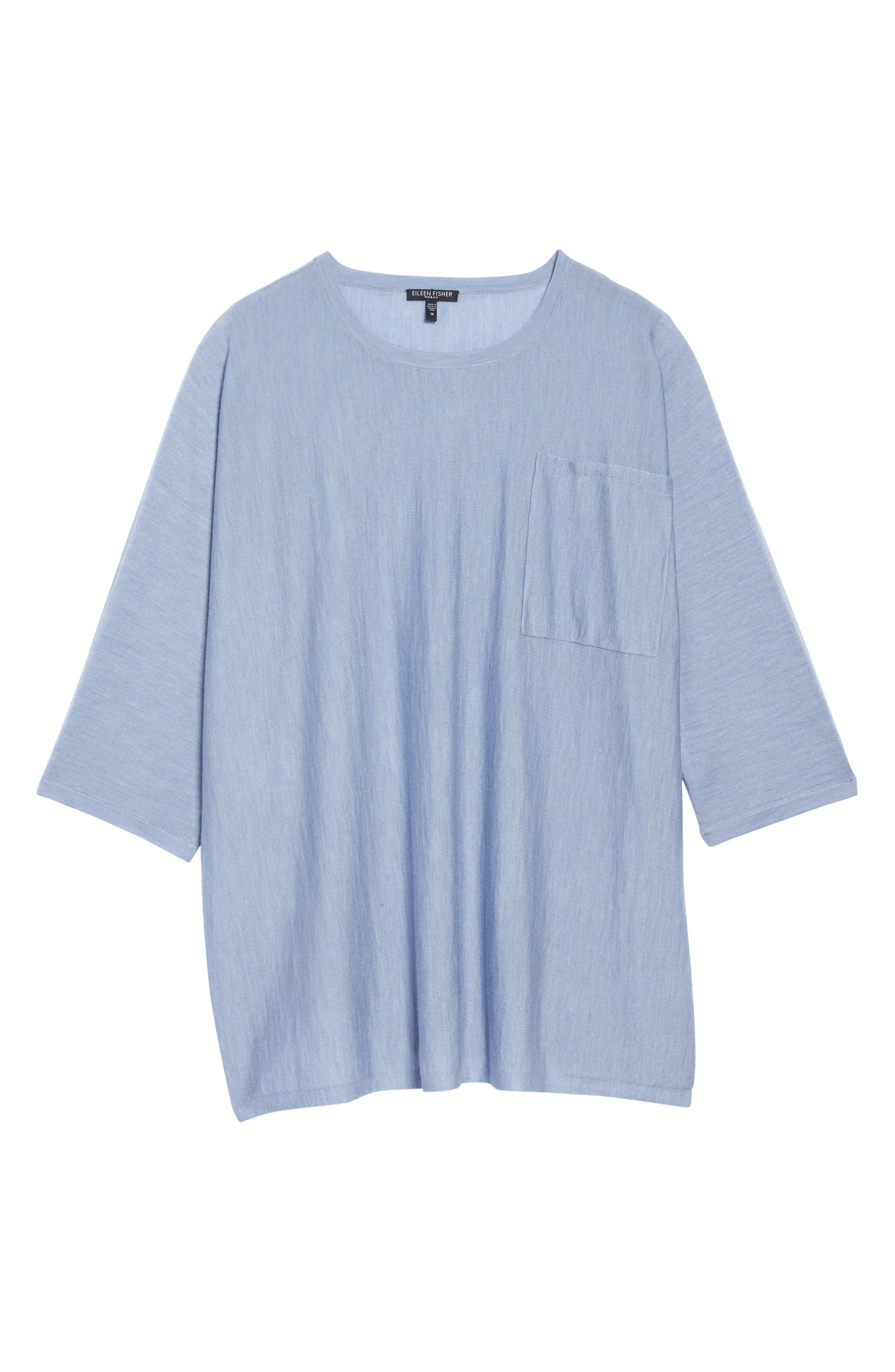 Round Neck Merino Sweater,                             Alternate thumbnail 6, color,                             401