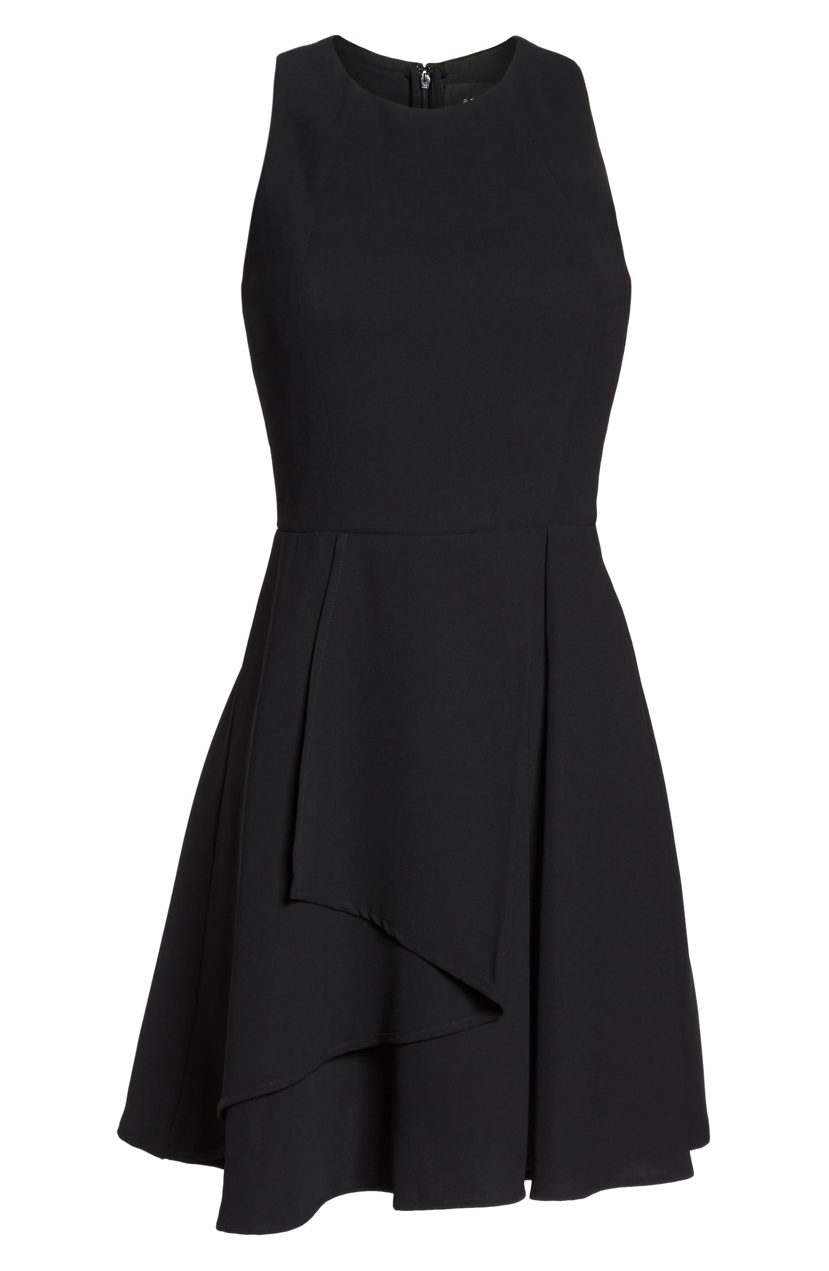 Athena Fit & Flare Dress,                             Alternate thumbnail 6, color,                             001