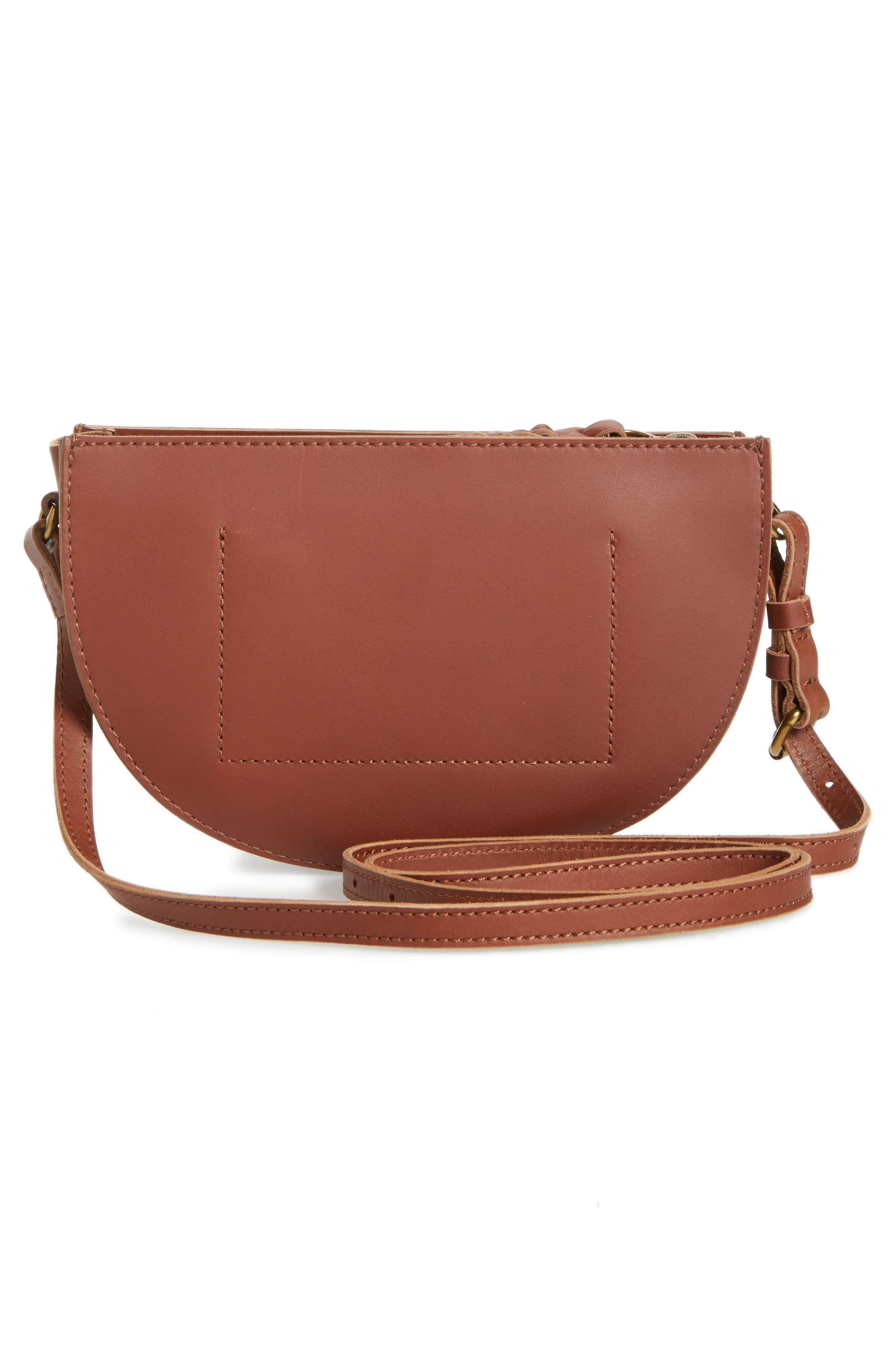 Juniper Vachetta Leather Half Moon Crossbody Bag,                             Alternate thumbnail 9, color,