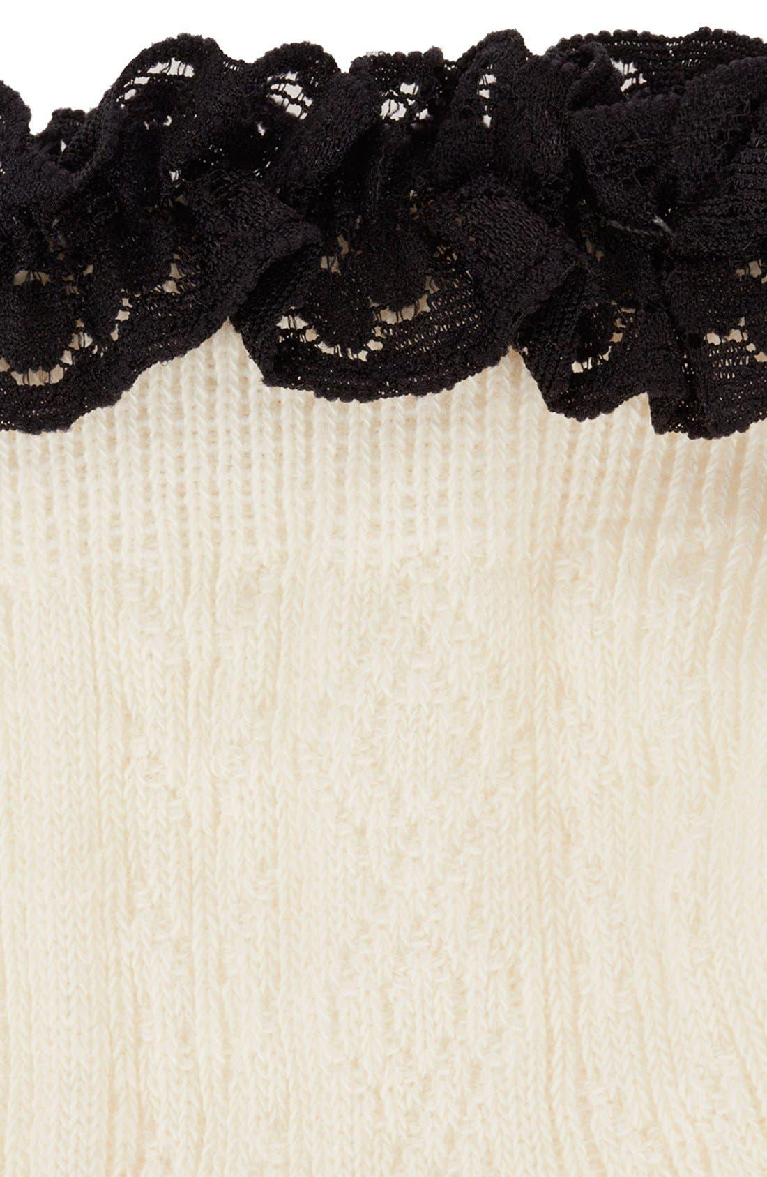 Lace Trim Ankle Socks,                             Alternate thumbnail 40, color,